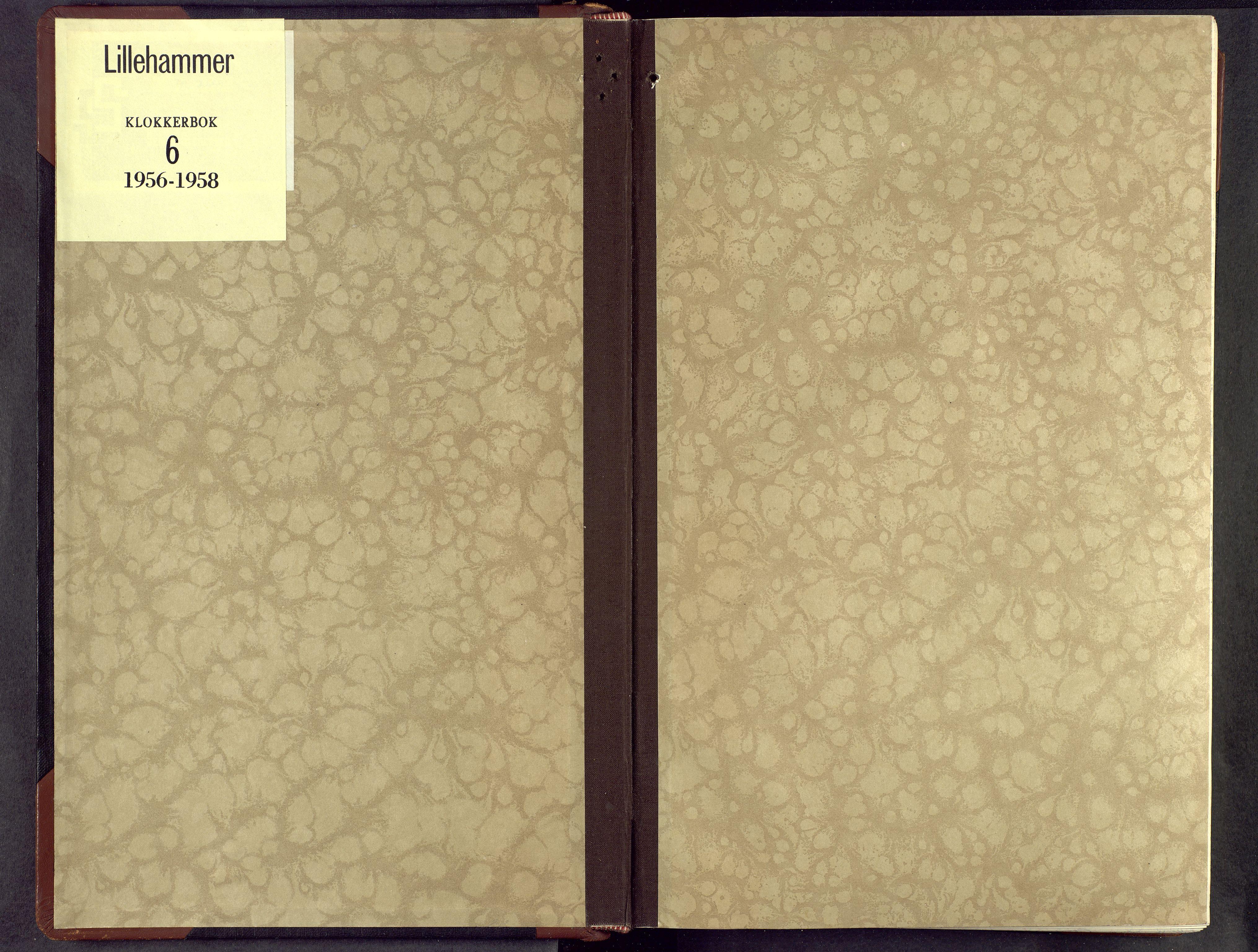 SAH, Lillehammer prestekontor, H/Ha/Hab/L0006: Parish register (copy) no. 6, 1956-1958