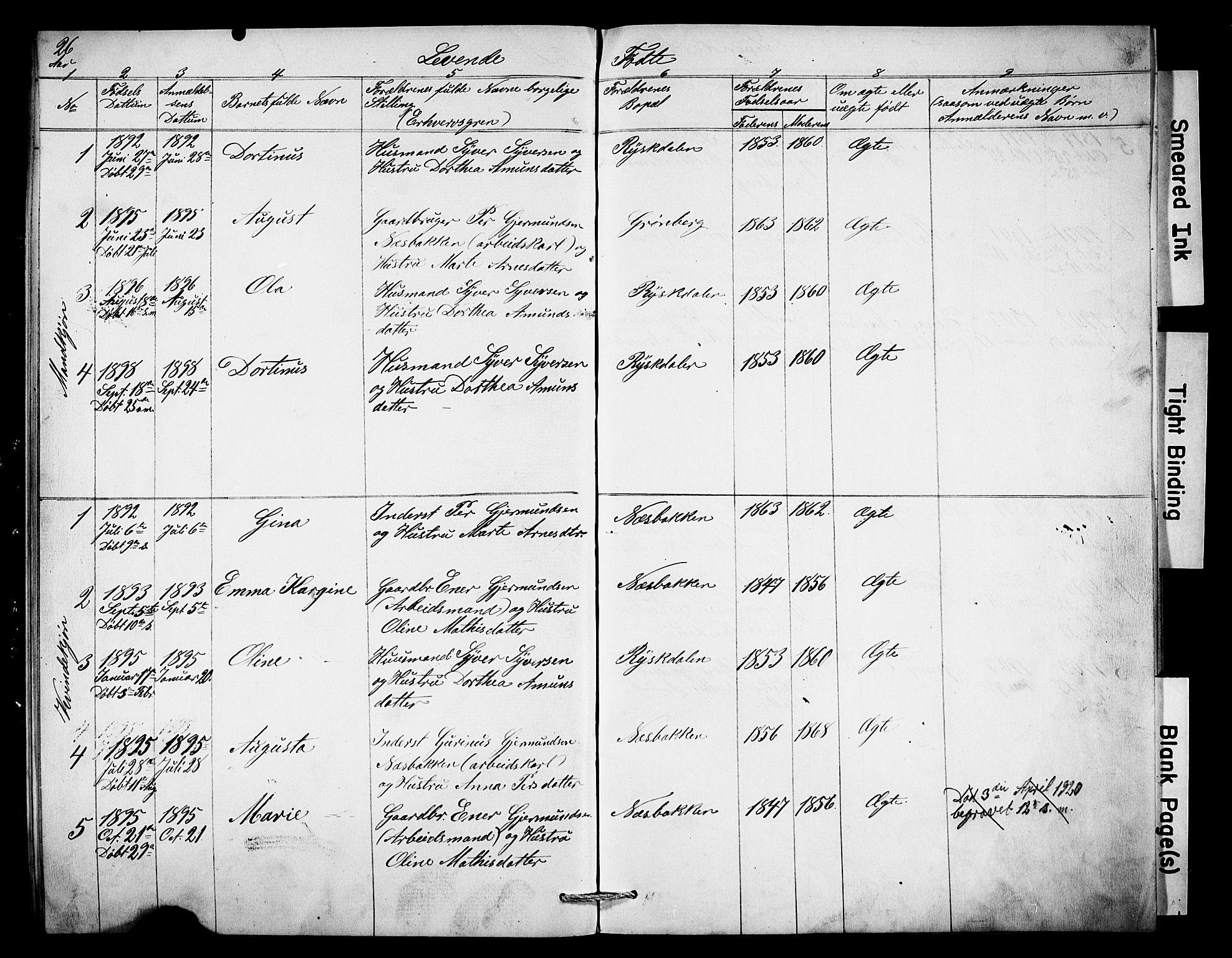 SAH, Misjonsforbundet, 01/L0003: Dissenter register no. 3, 1892-1920, p. 26