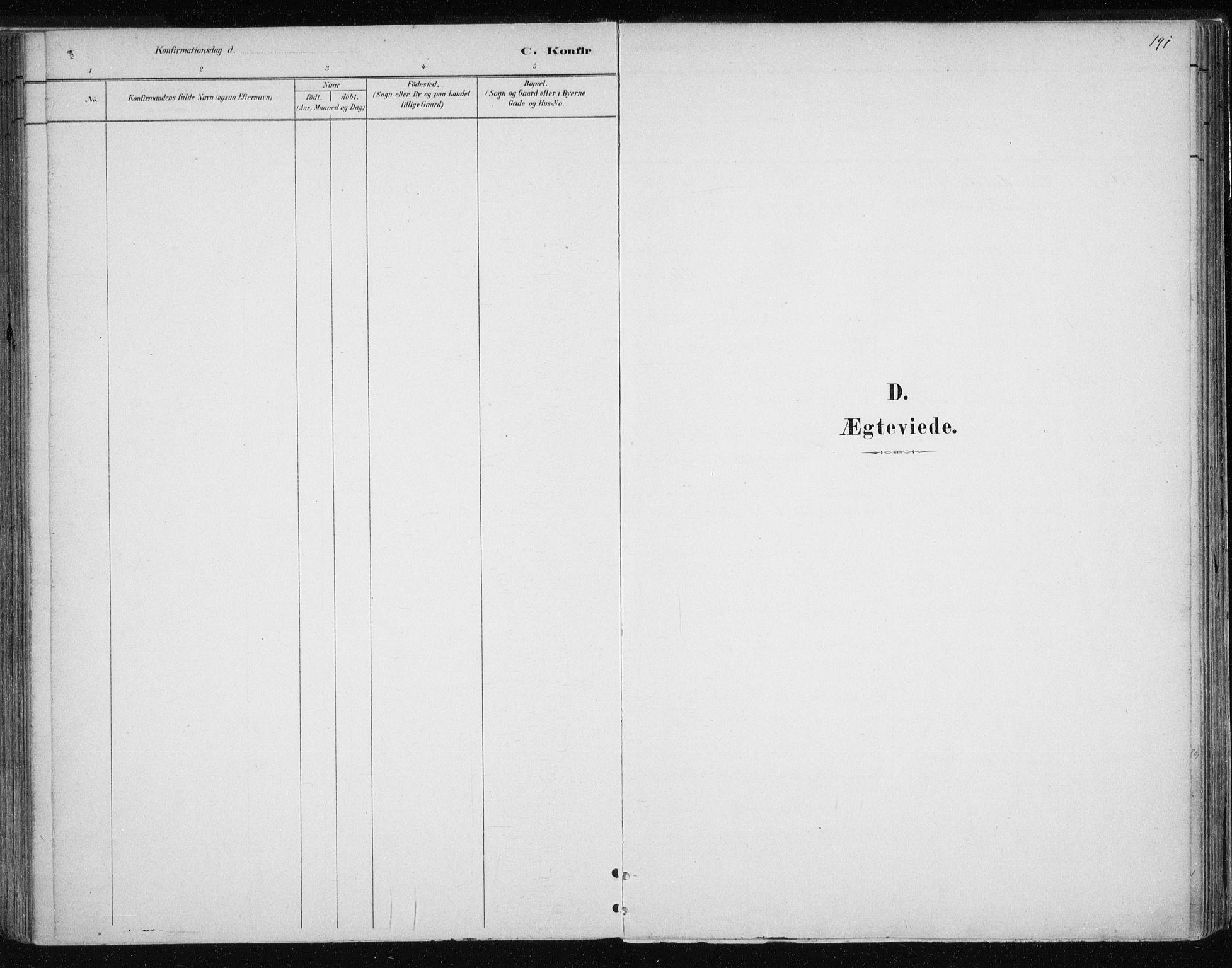 SATØ, Tromsøysund sokneprestkontor, G/Ga/L0004kirke: Parish register (official) no. 4, 1880-1888, p. 191
