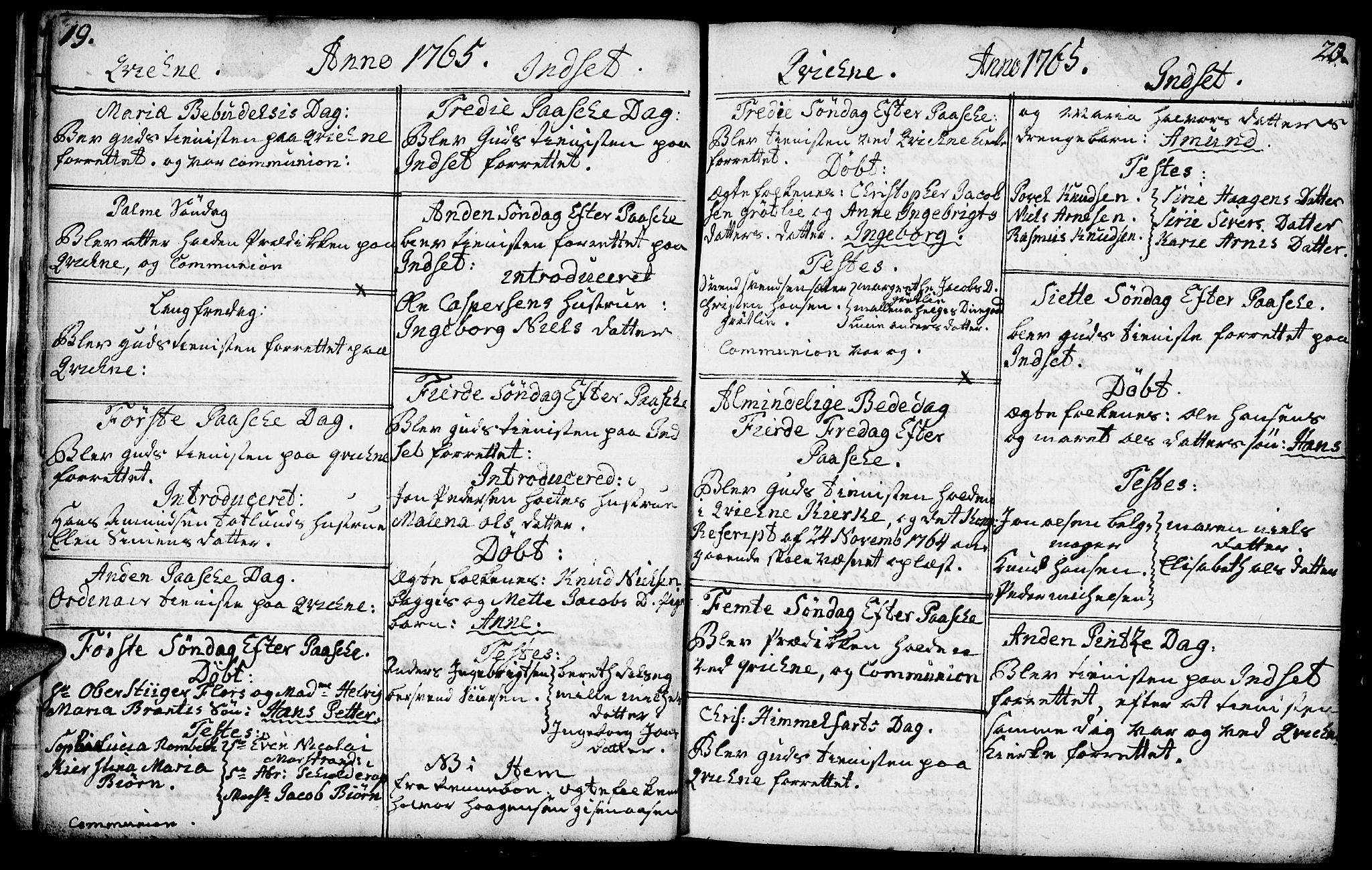 SAH, Kvikne prestekontor, Parish register (official) no. 2, 1764-1784, p. 19-20