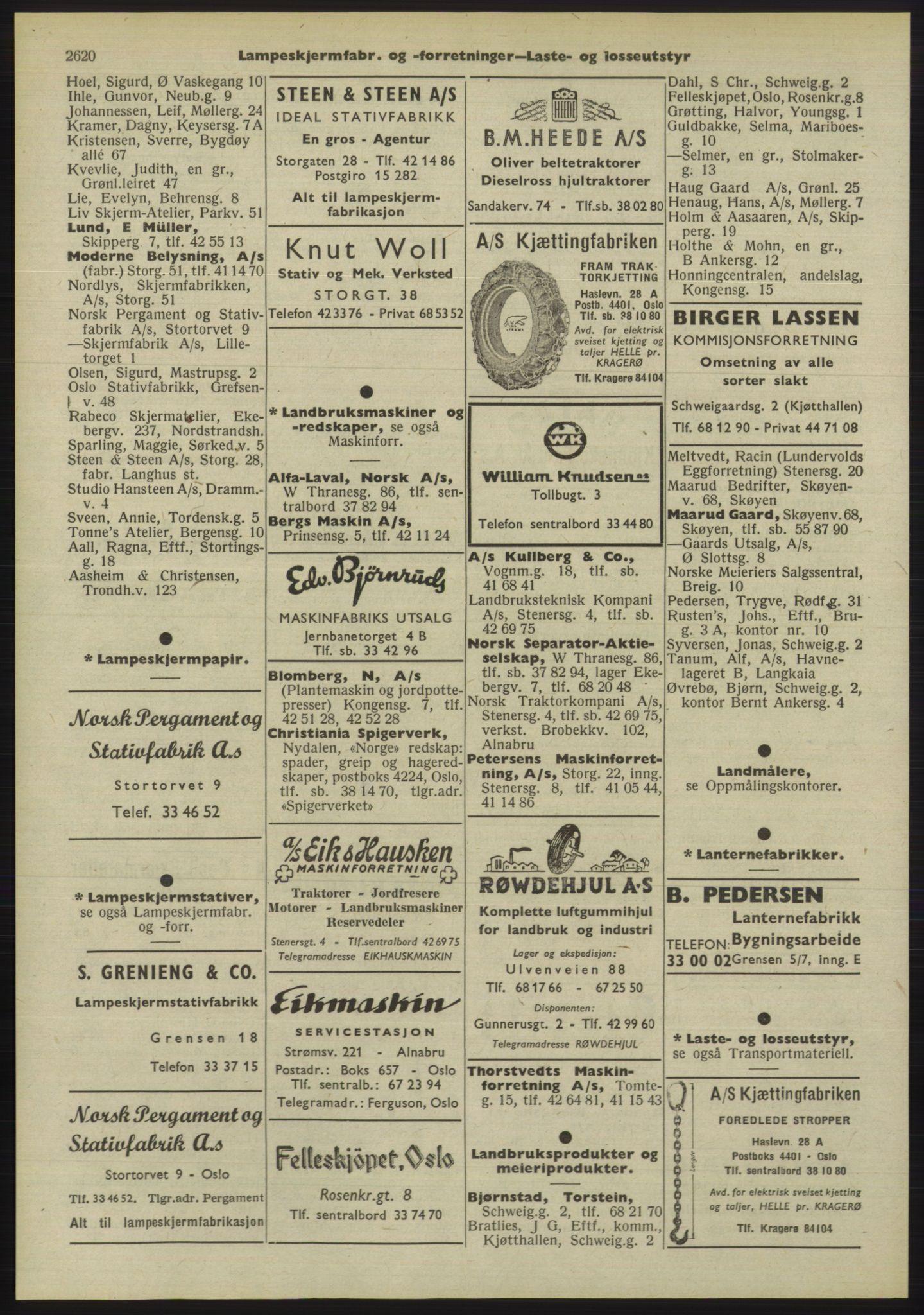 PUBL, Kristiania/Oslo adressebok, 1955, p. 2620