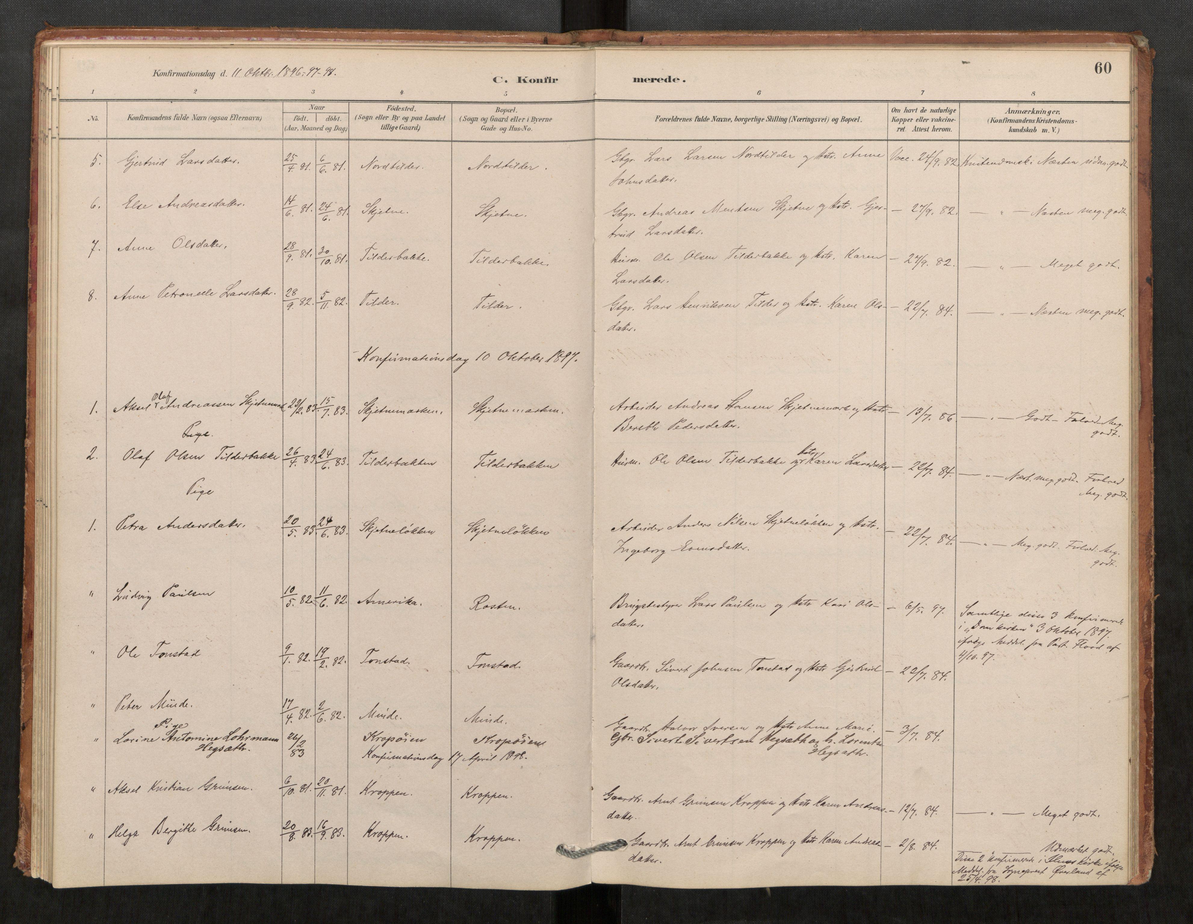 SAT, Klæbu sokneprestkontor, Parish register (official) no. 1, 1880-1900, p. 60