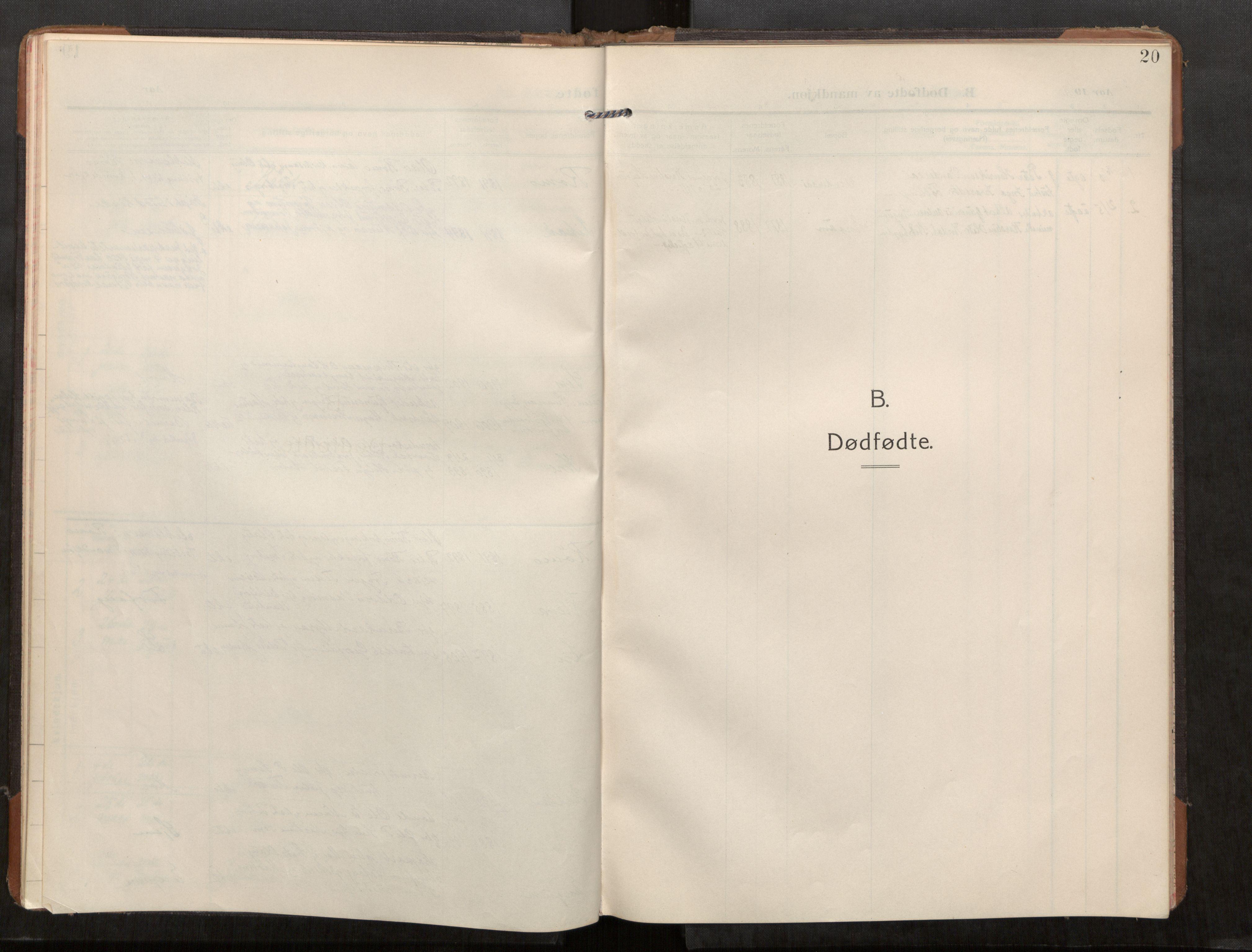 SAT, Stod sokneprestkontor, I/I1/I1a/L0003: Parish register (official) no. 3, 1909-1934, p. 20