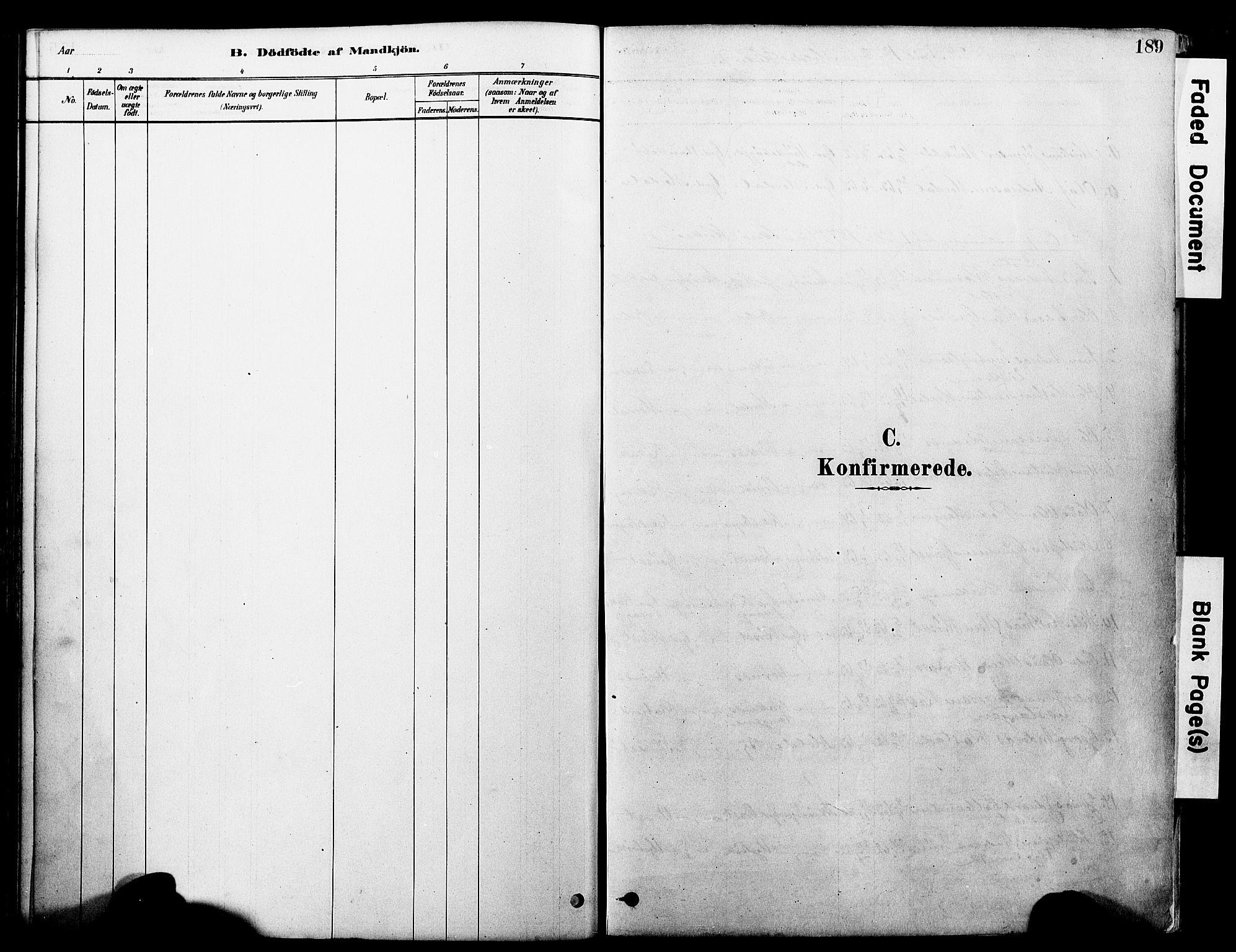 SAT, Ministerialprotokoller, klokkerbøker og fødselsregistre - Møre og Romsdal, 560/L0721: Parish register (official) no. 560A05, 1878-1917, p. 189