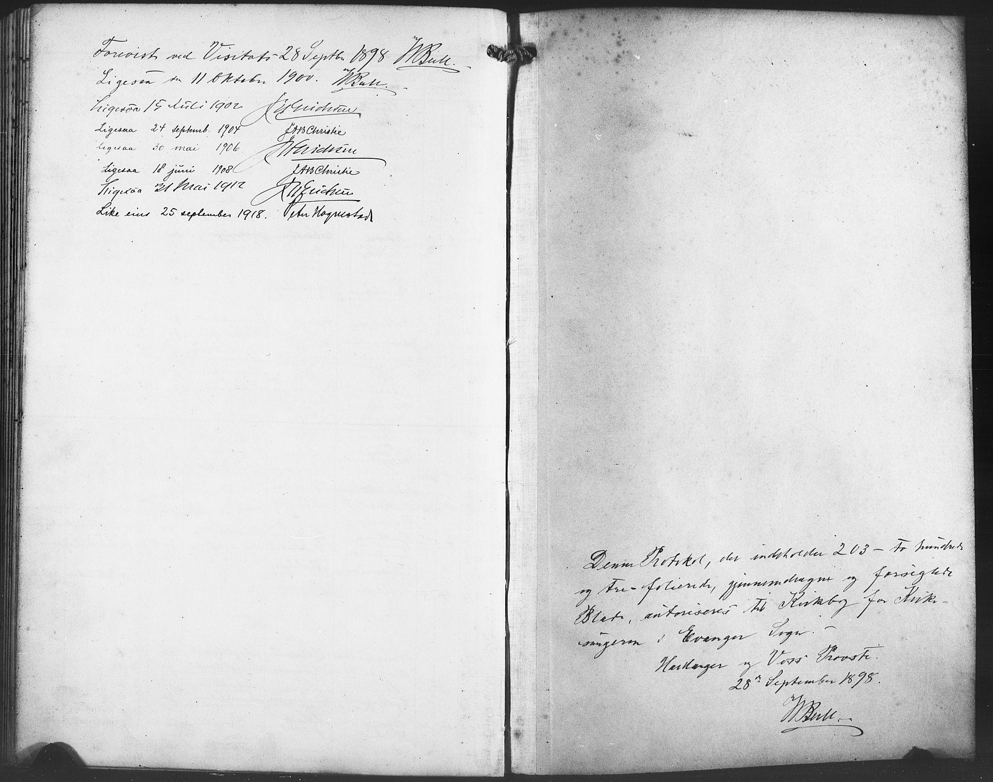 SAB, Evanger sokneprestembete*, Parish register (copy) no. A 5, 1897-1917