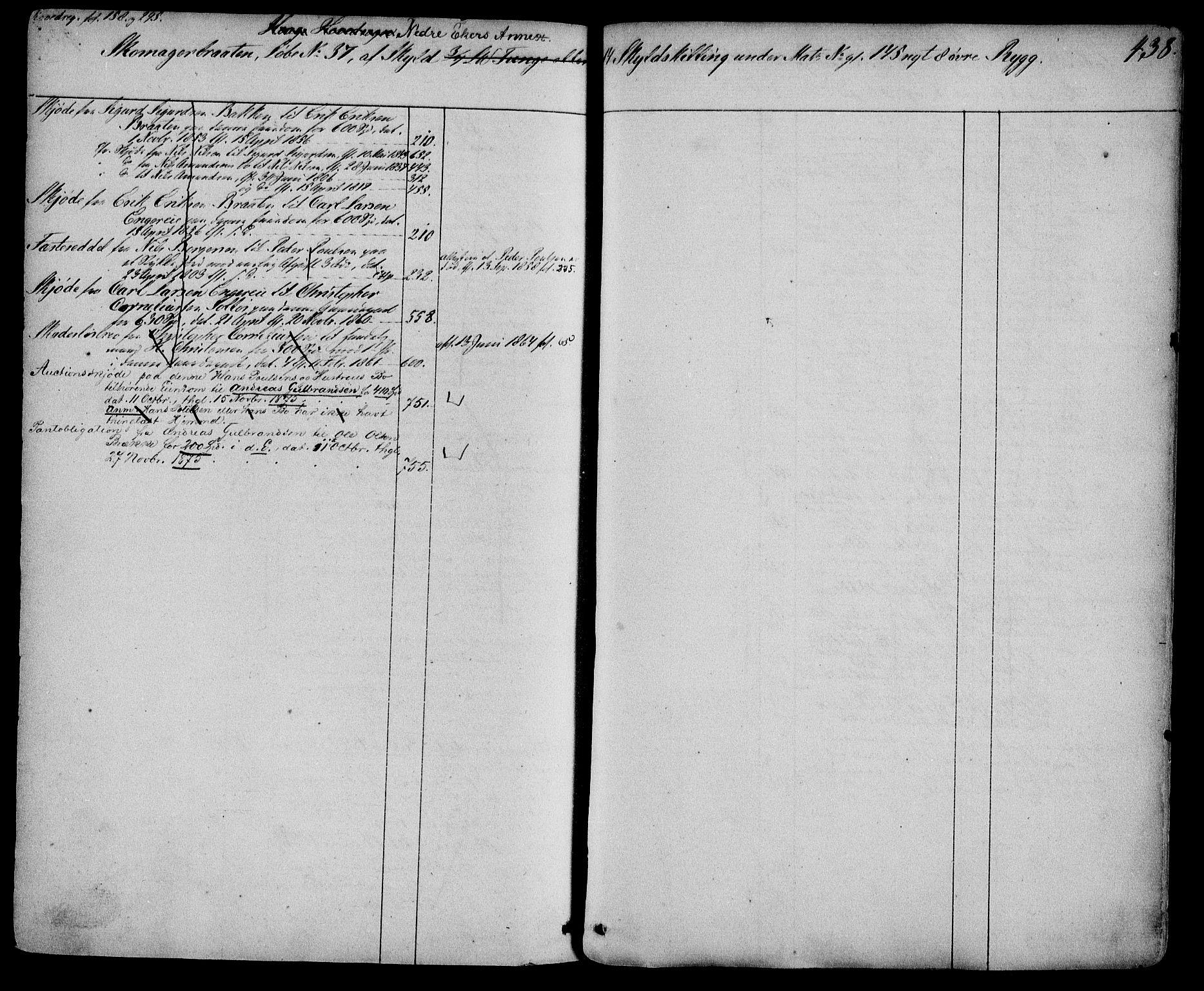 SAKO, Eiker, Modum og Sigdal sorenskriveri, G/Gb/Gbc/L0003: Mortgage register no. III 3, p. 438