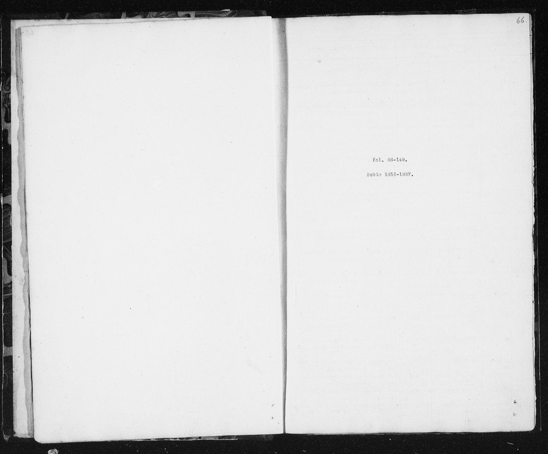 SAT, Ministerialprotokoller, klokkerbøker og fødselsregistre - Sør-Trøndelag, 692/L1110: Parish register (copy) no. 692C05, 1849-1889, p. 66