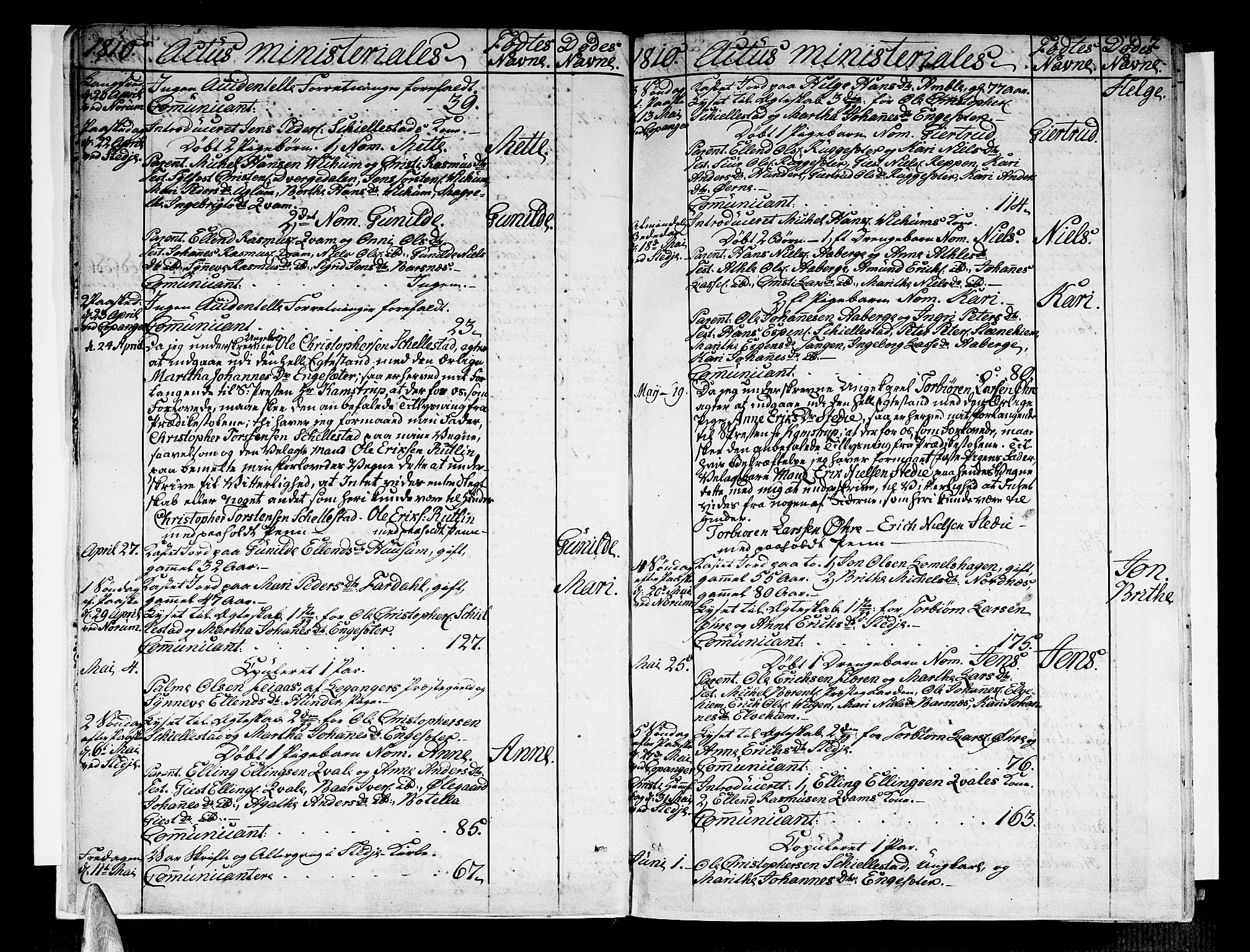 SAB, Sogndal Sokneprestembete, Parish register (official) no. A 9, 1809-1821, p. 7
