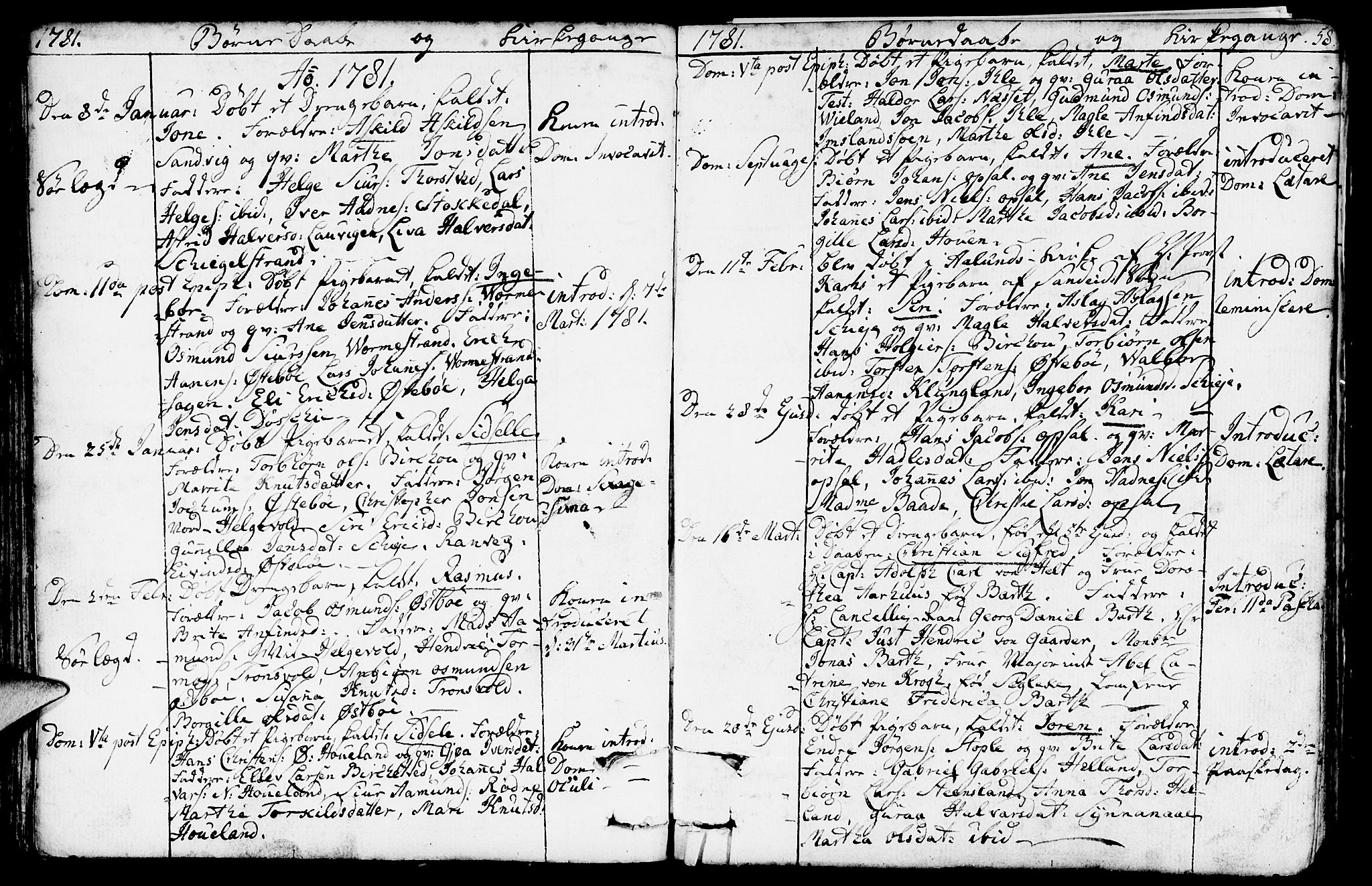 SAST, Vikedal sokneprestkontor, IV: Parish register (official) no. A 2, 1779-1817, p. 58
