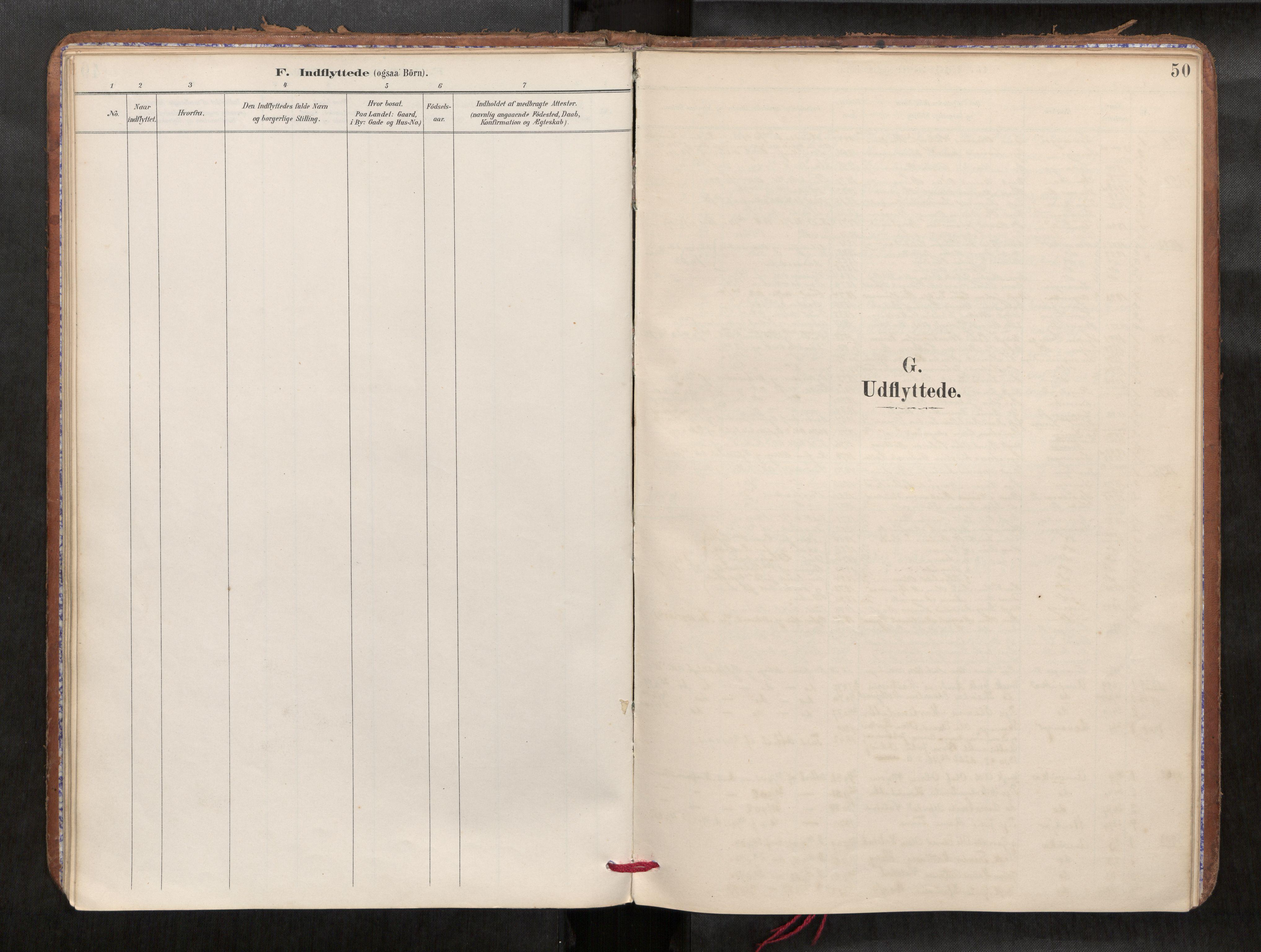 SAT, Verdal sokneprestkontor*, Parish register (official) no. 1, 1891-1907, p. 50