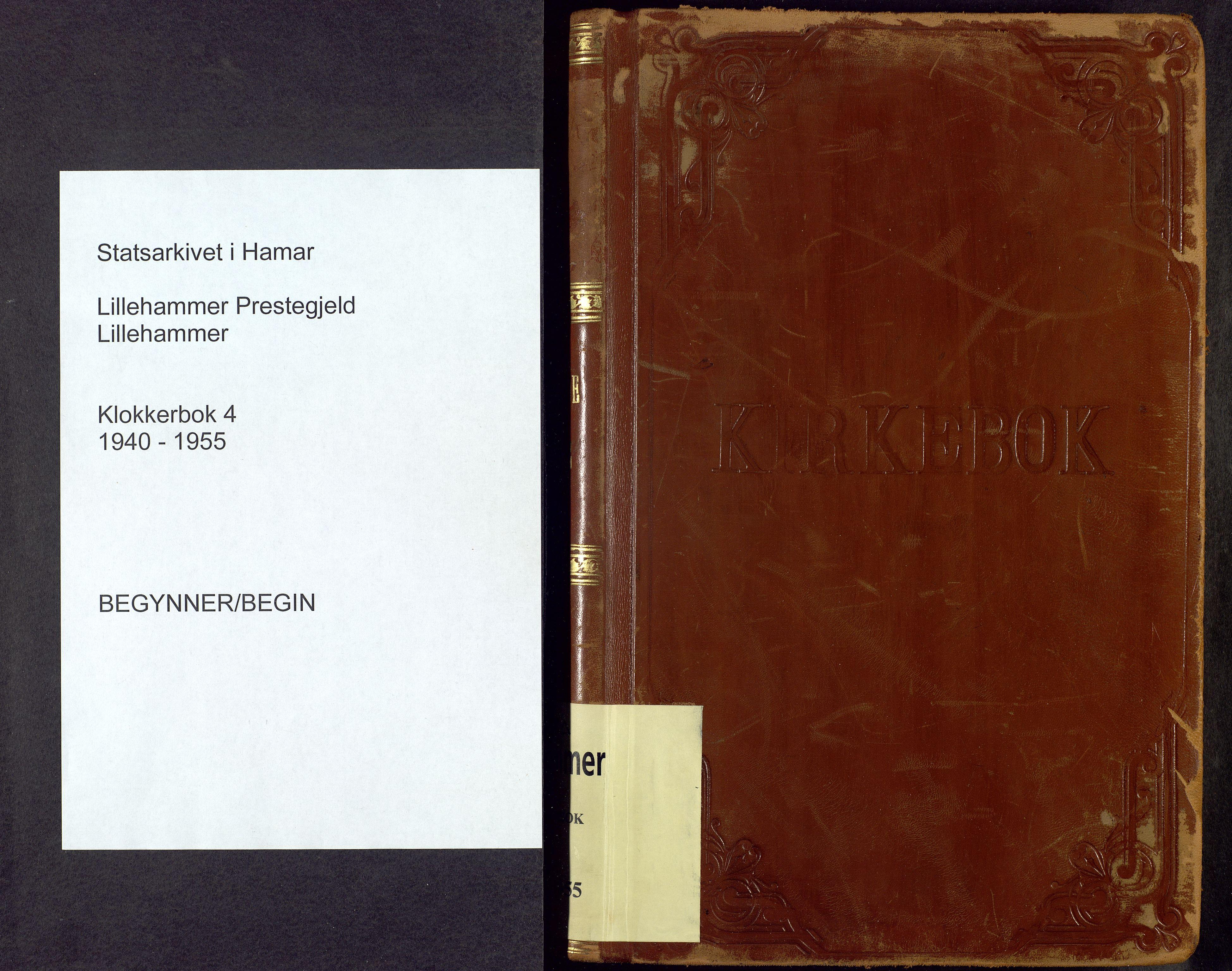 SAH, Lillehammer prestekontor, H/Ha/Hab/L0004: Parish register (copy) no. 4, 1940-1955