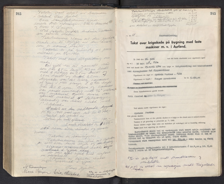 SAB, Lensmannen i Aurland, 0012/L0003: Branntakstprotokoll, 1917-1944, p. 245