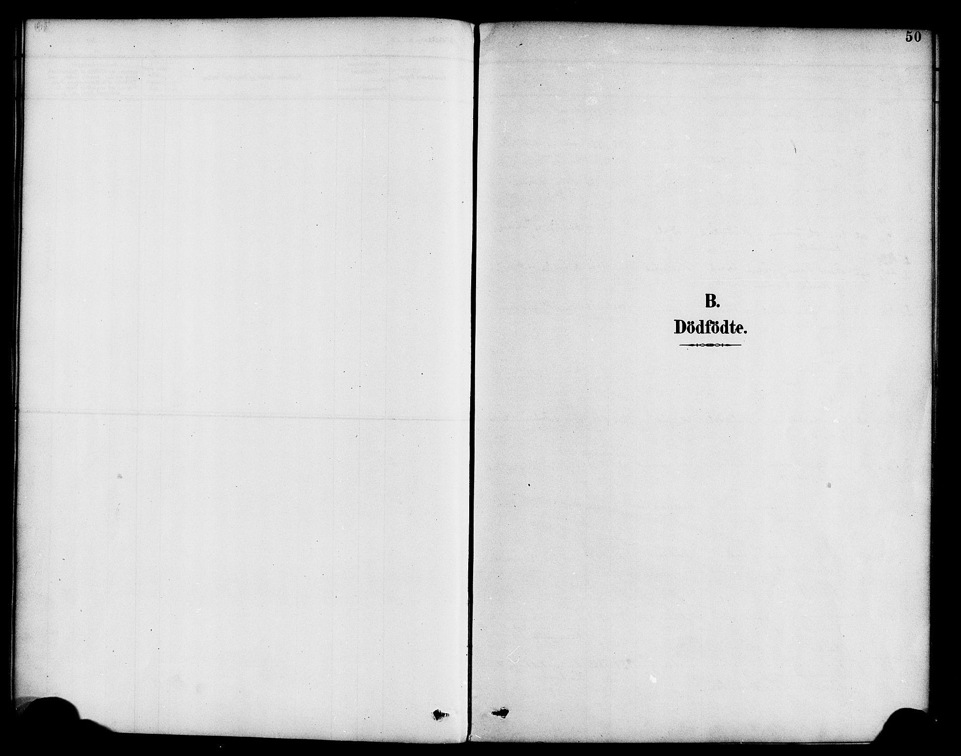 SAB, Hyllestad Sokneprestembete, Parish register (official) no. B 1, 1886-1904, p. 50