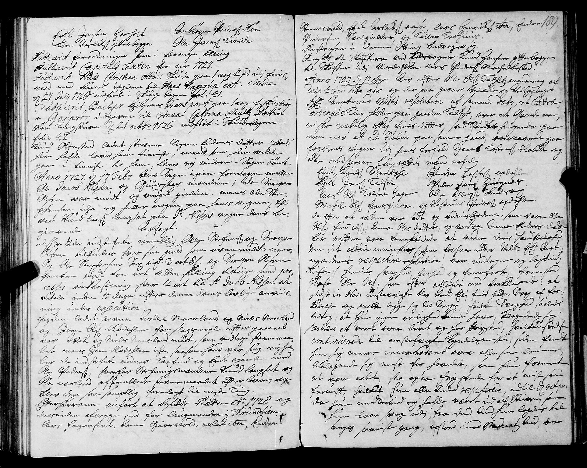 SAT, Romsdal sorenskriveri, 1/1A/L0009: Tingbok, 1722-1728, p. 188b-189a
