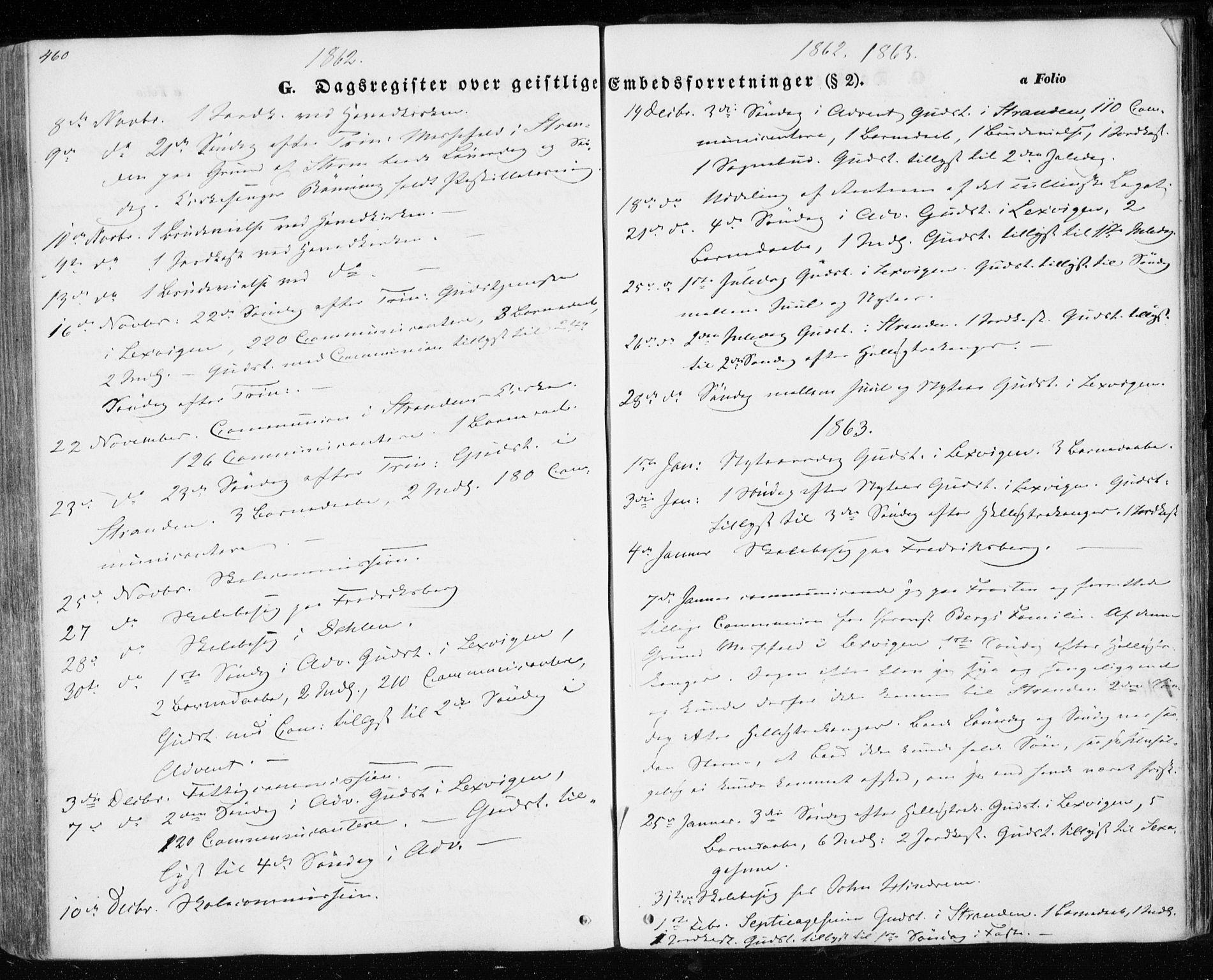 SAT, Ministerialprotokoller, klokkerbøker og fødselsregistre - Nord-Trøndelag, 701/L0008: Parish register (official) no. 701A08 /1, 1854-1863, p. 460