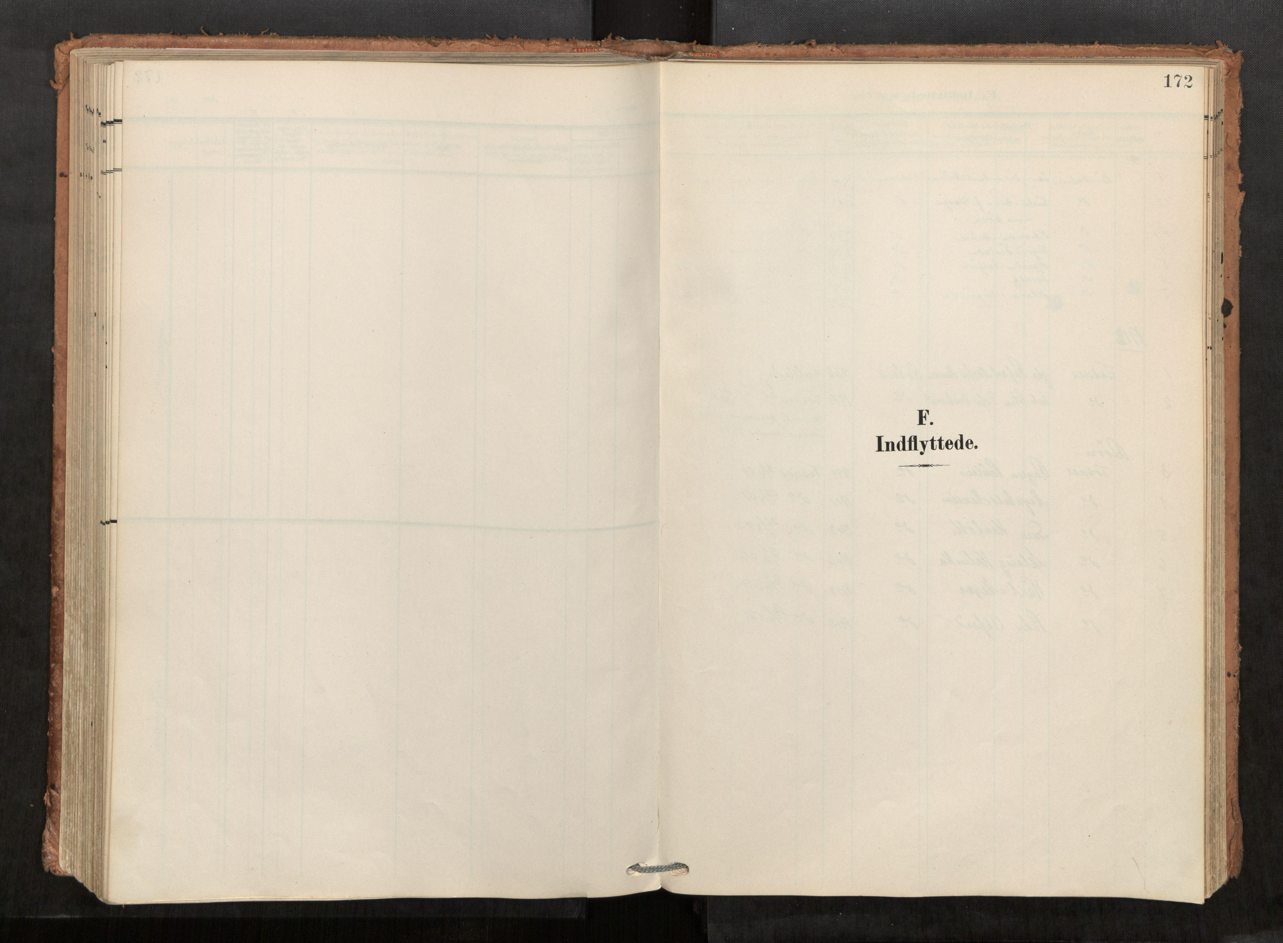 SAT, Kolvereid sokneprestkontor, H/Ha/Haa/L0001: Parish register (official) no. 1, 1903-1922, p. 172