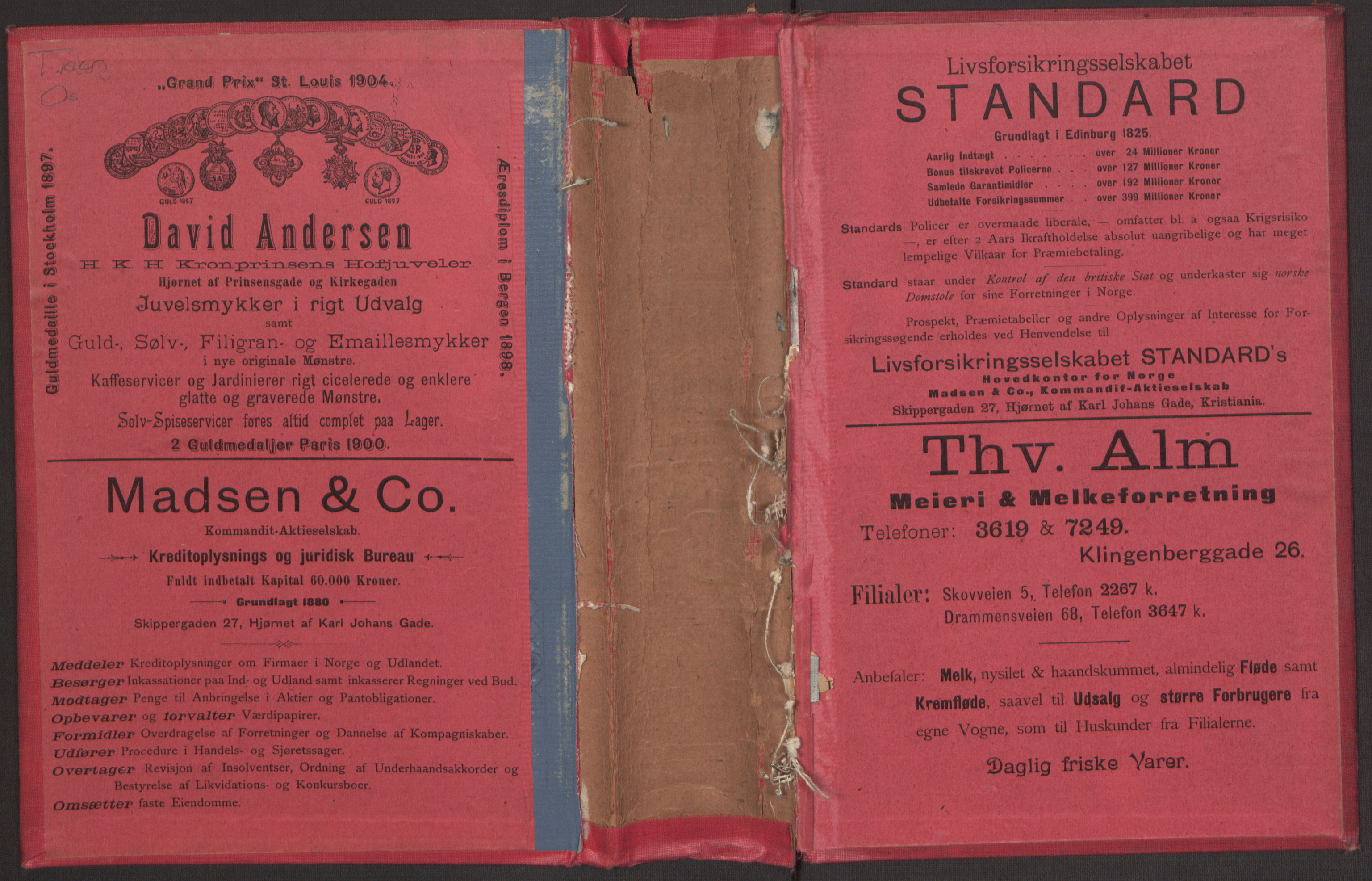 PUBL, Kristiania/Oslo adressebok, 1905