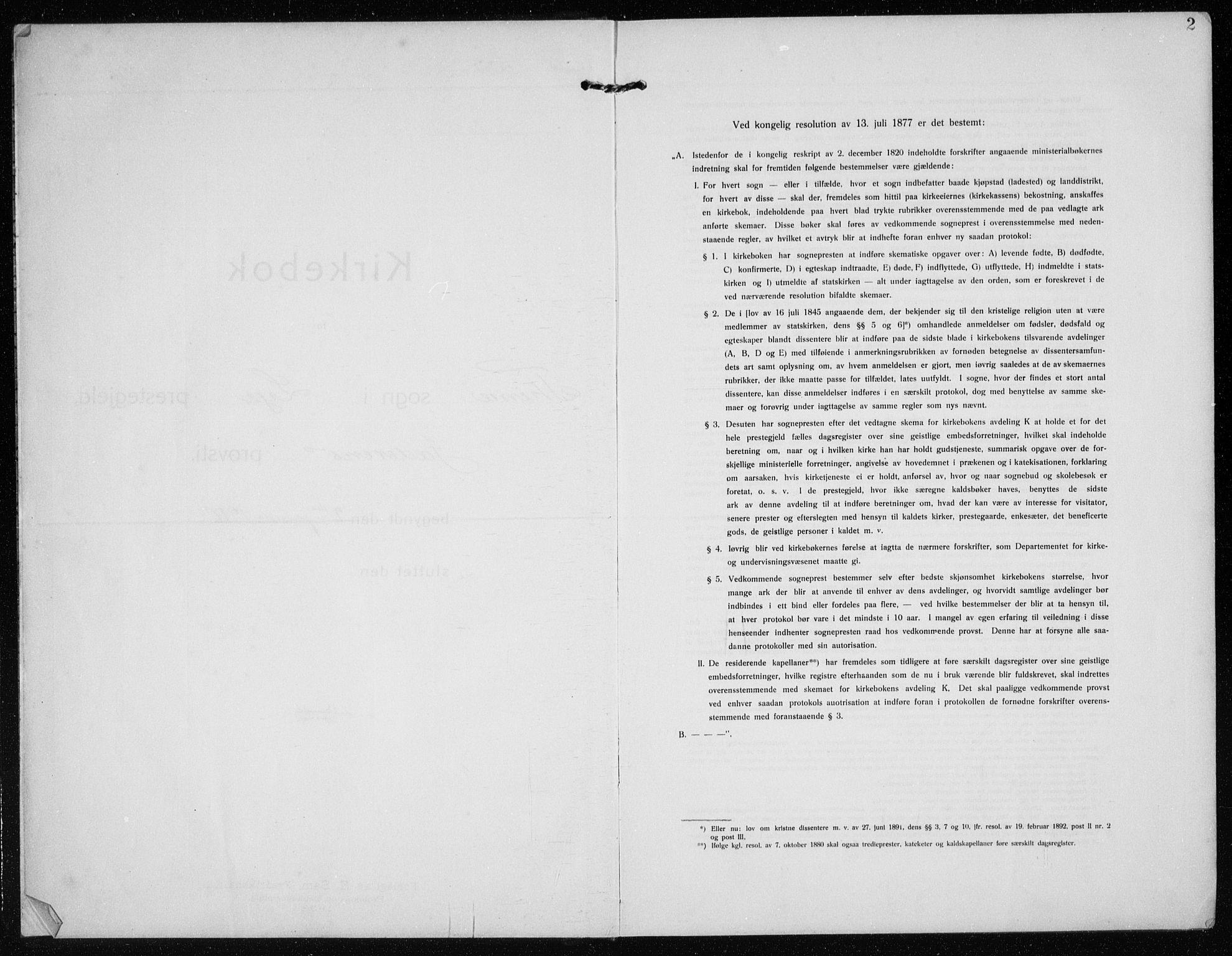 SAST, Time sokneprestkontor, 30BB/L0001: Parish register (copy) no. B 1, 1910-1932, p. 2