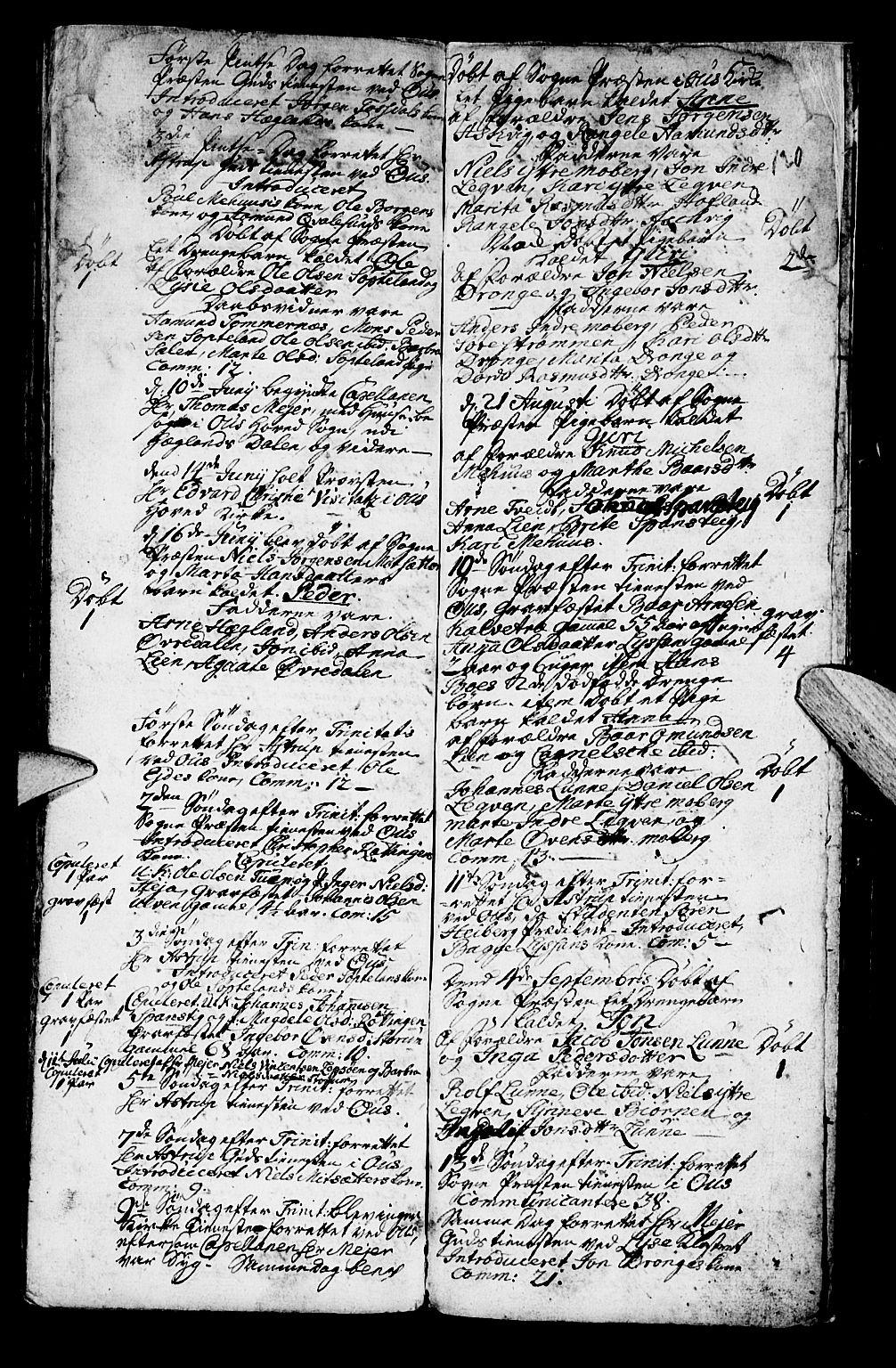 SAB, Os sokneprestembete*, Parish register (official) no. A 2, 1723-1758, p. 120