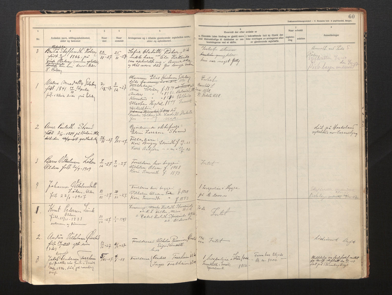 SAB, Lensmannen i Innvik, 0006/L0005: Dødsfallprotokoll, 1921-1932, p. 59b-60a