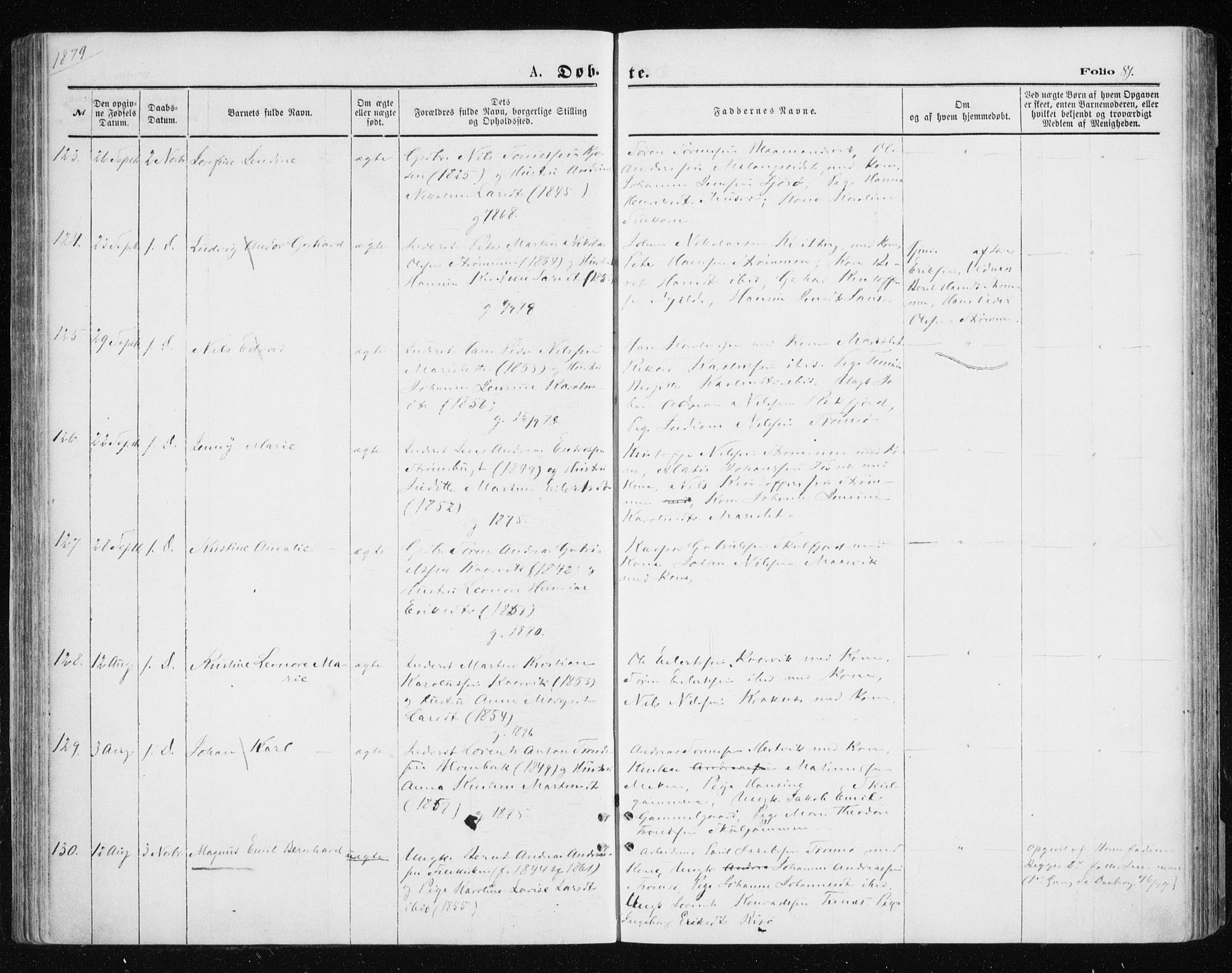 SATØ, Tromsøysund sokneprestkontor, G/Ga/L0003kirke: Parish register (official) no. 3, 1875-1880, p. 81