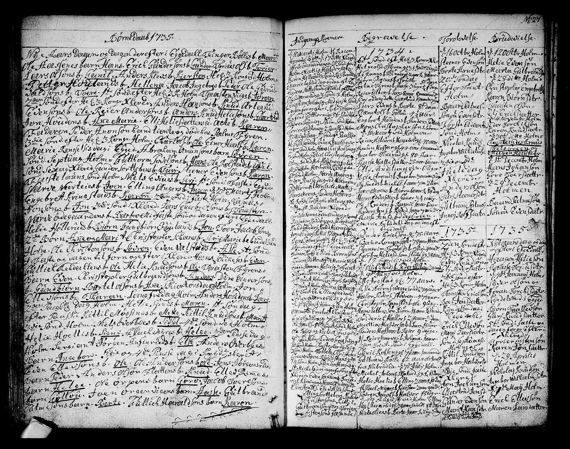 SAKO, Sigdal kirkebøker, F/Fa/L0001: Parish register (official) no. I 1, 1722-1777, p. 27
