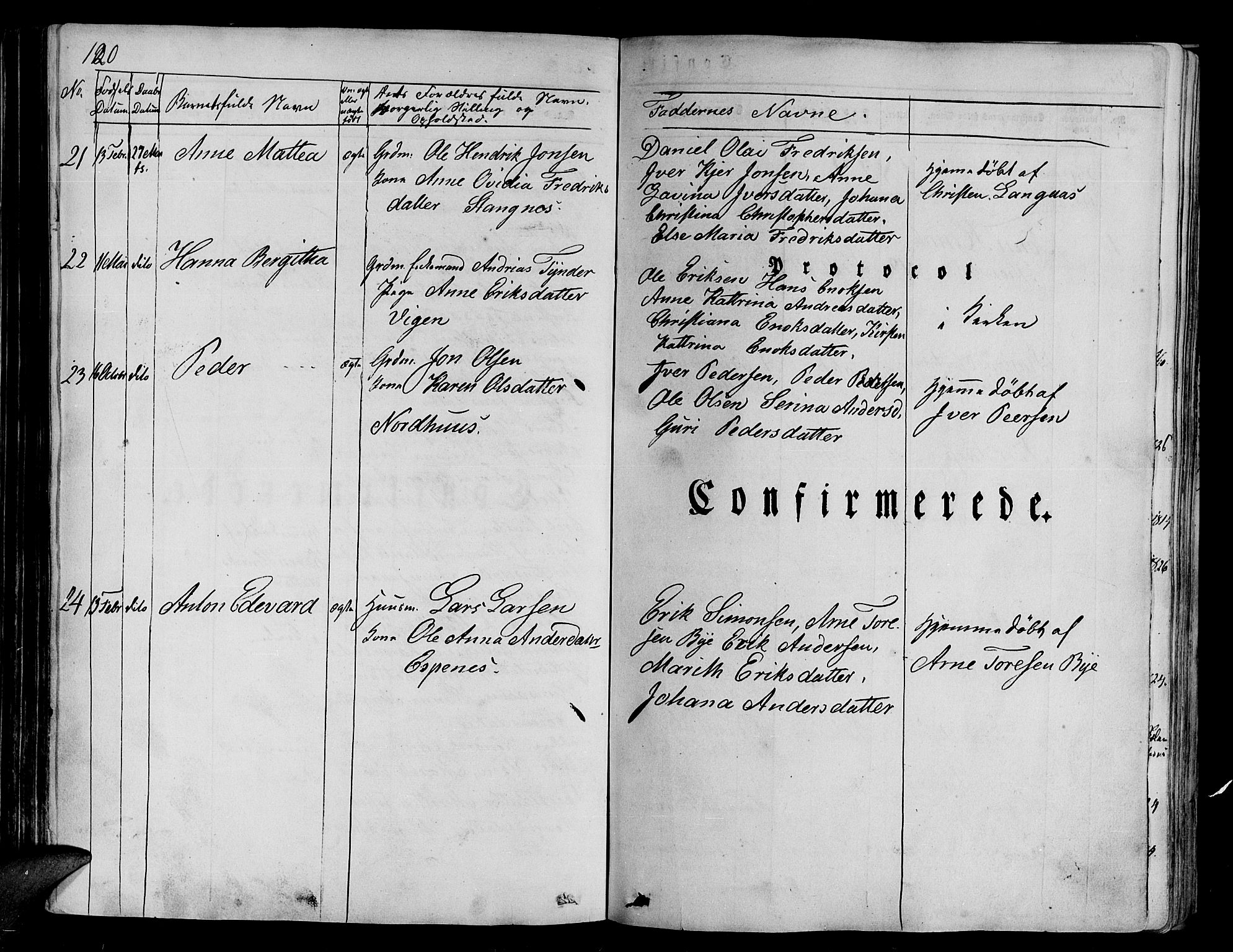 SATØ, Tranøy sokneprestkontor, I/Ia/Iaa/L0005kirke: Parish register (official) no. 5, 1829-1844, p. 120