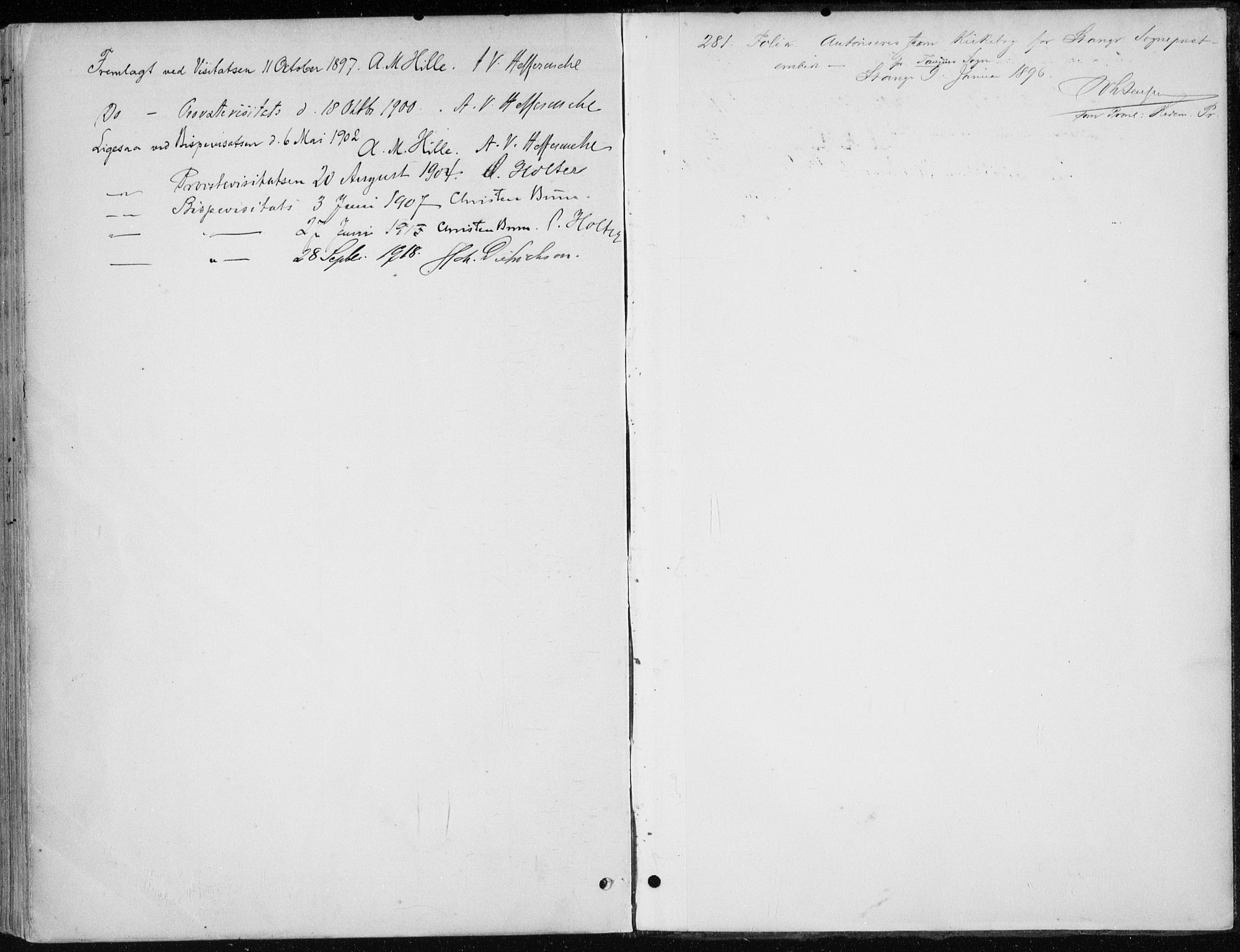 SAH, Stange prestekontor, K/L0023: Parish register (official) no. 23, 1897-1920