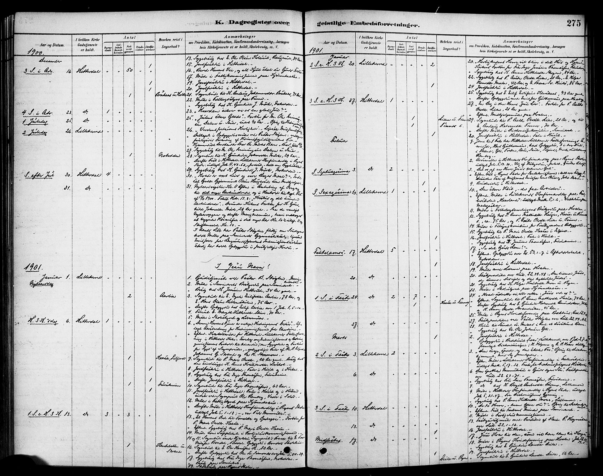 SAKO, Heddal kirkebøker, F/Fa/L0009: Parish register (official) no. I 9, 1878-1903, p. 275