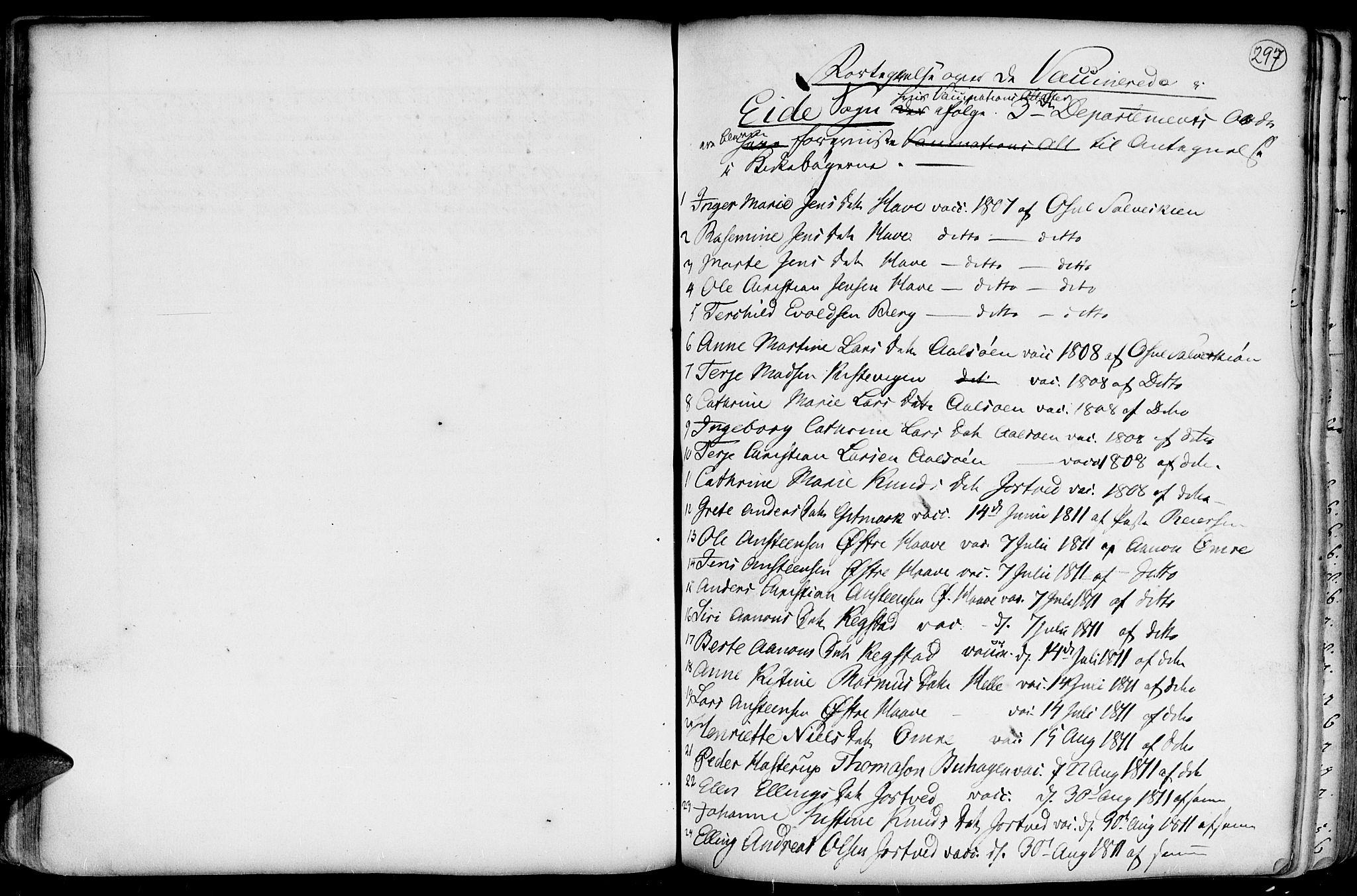 SAK, Hommedal sokneprestkontor, F/Fa/Fab/L0002: Parish register (official) no. A 2 /2, 1740-1823, p. 297