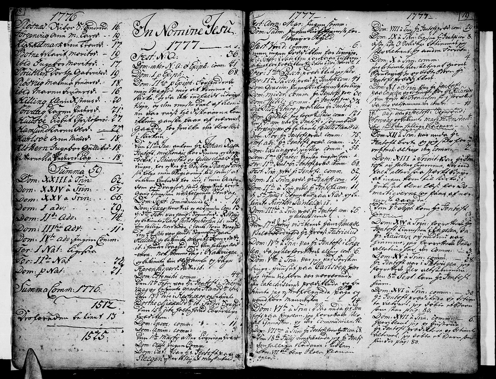 SAT, Ministerialprotokoller, klokkerbøker og fødselsregistre - Nordland, 859/L0841: Parish register (official) no. 859A01, 1766-1821, p. 18-19