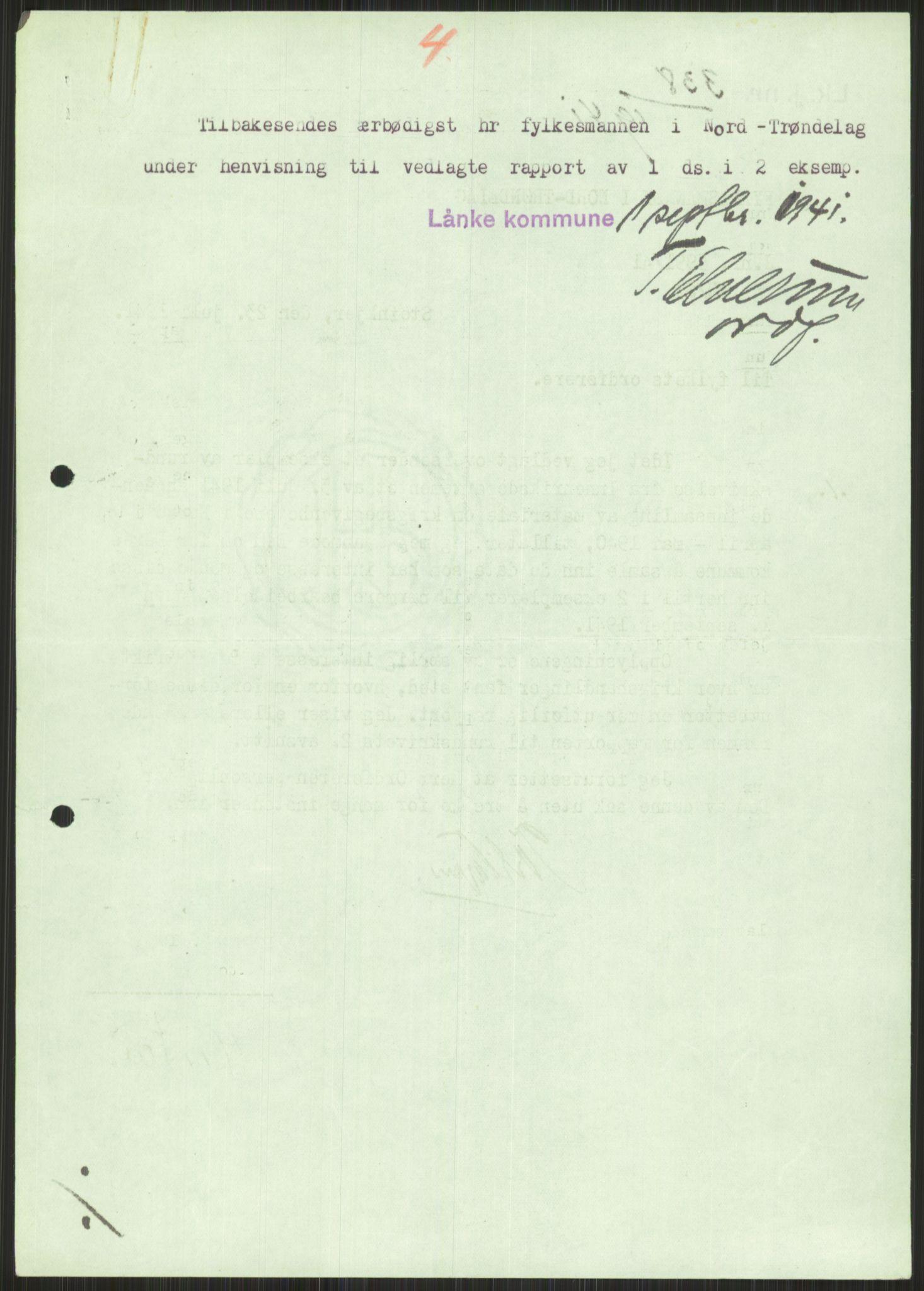 RA, Forsvaret, Forsvarets krigshistoriske avdeling, Y/Ya/L0016: II-C-11-31 - Fylkesmenn.  Rapporter om krigsbegivenhetene 1940., 1940, p. 499