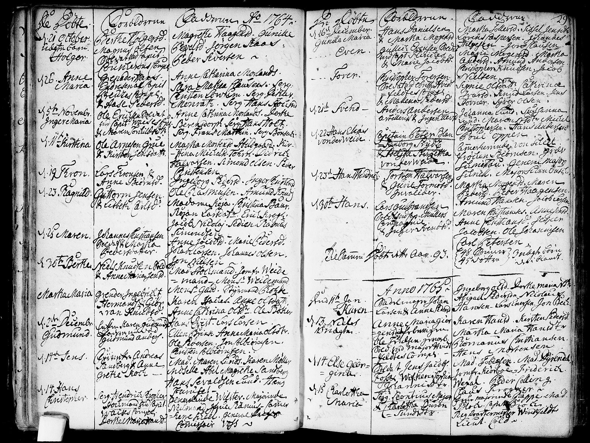 SAO, Garnisonsmenigheten Kirkebøker, F/Fa/L0002: Parish register (official) no. 2, 1757-1776, p. 29
