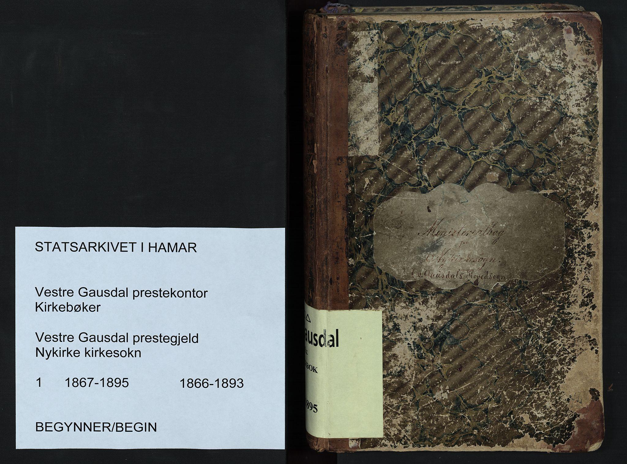 SAH, Vestre Gausdal prestekontor, Parish register (copy) no. 1, 1867-1895