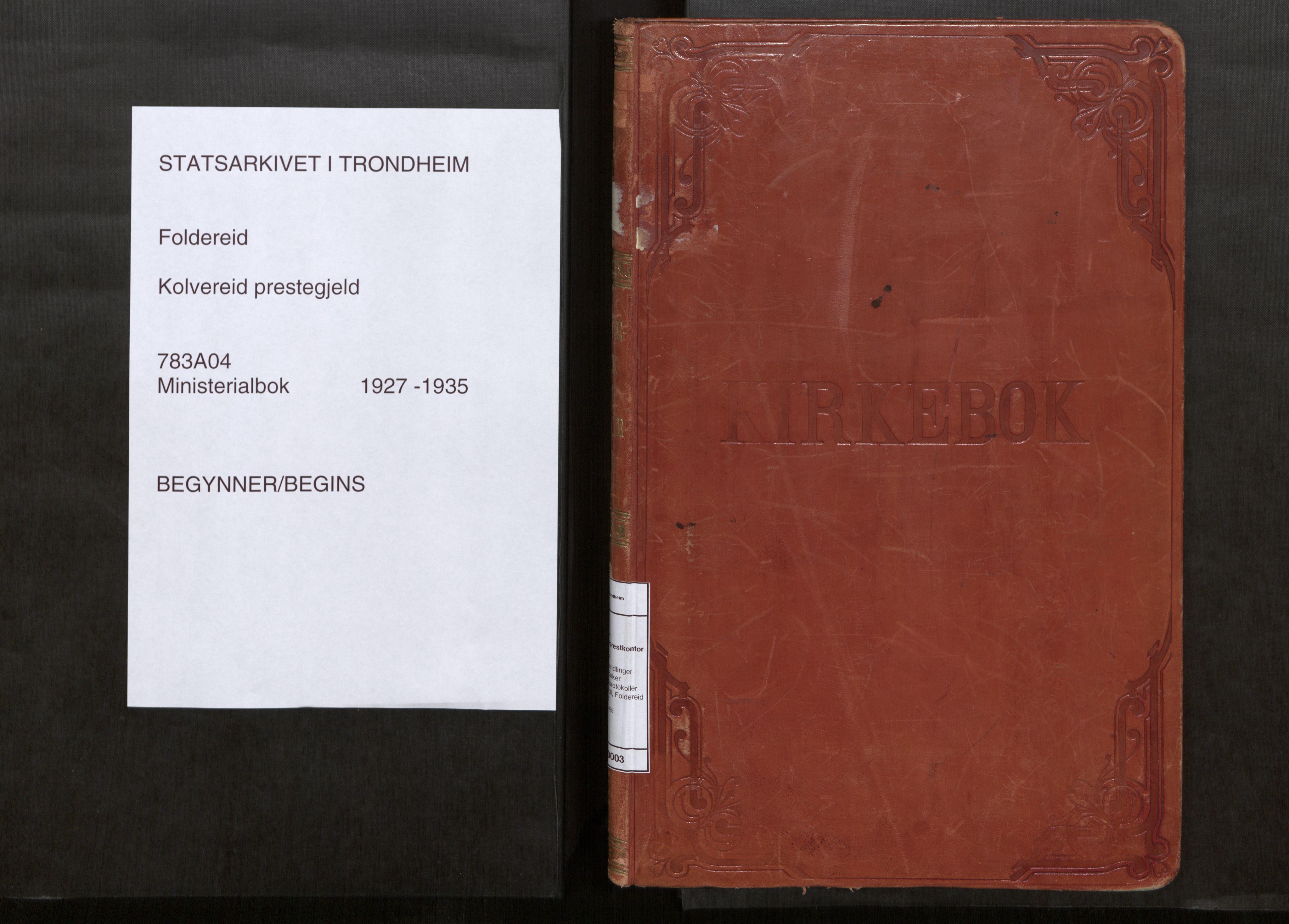 SAT, Kolvereid sokneprestkontor, H/Ha/Haa/L0003: Parish register (official) no. 3, 1927-1935