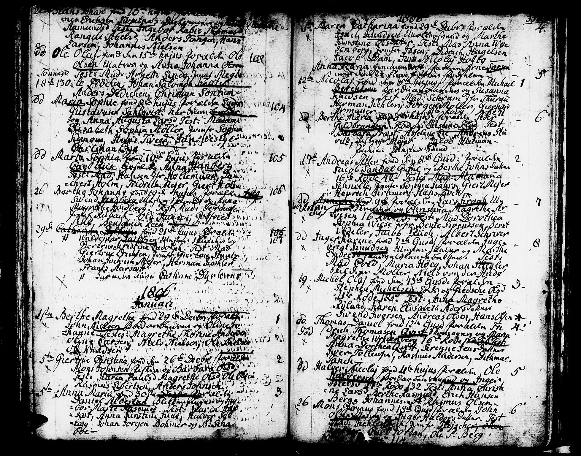 SAB, Domkirken sokneprestembete, H/Haa/L0004: Parish register (official) no. A 4, 1763-1820, p. 353-354