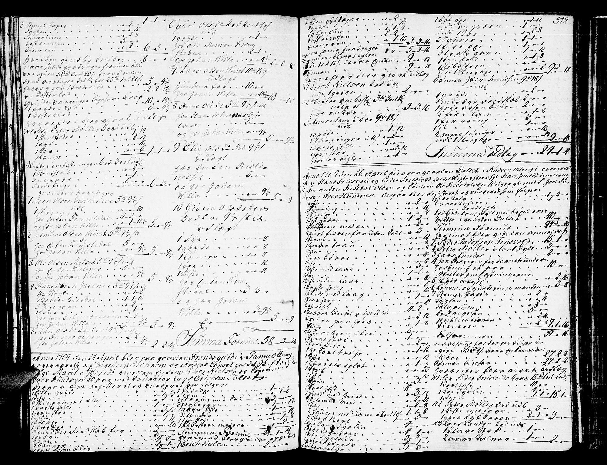SAT, Romsdal sorenskriveri, 3/3A/L0009: Skifteprotokoll, 1761-1773, p. 511b-512a
