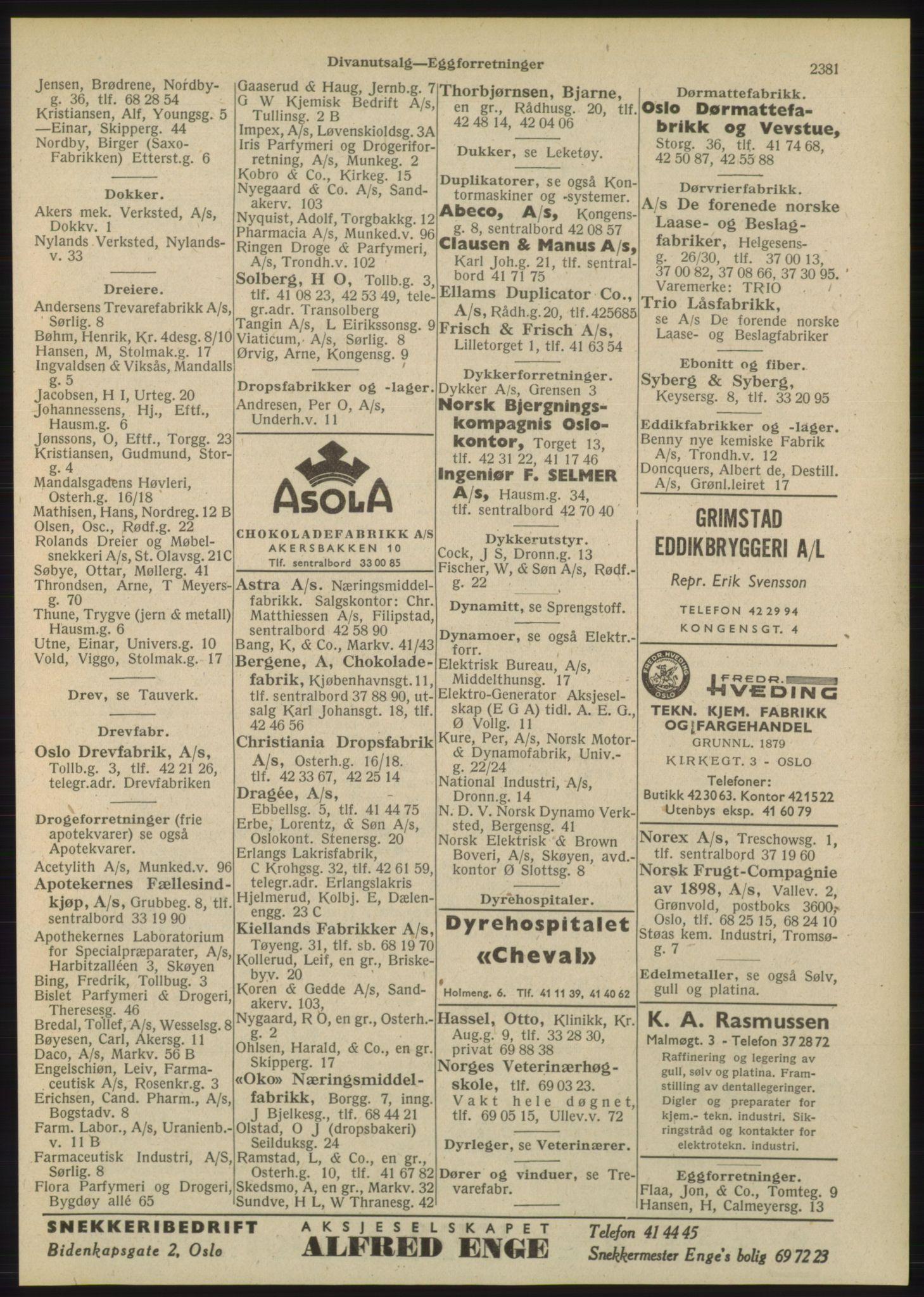 PUBL, Kristiania/Oslo adressebok, 1948, p. 2381