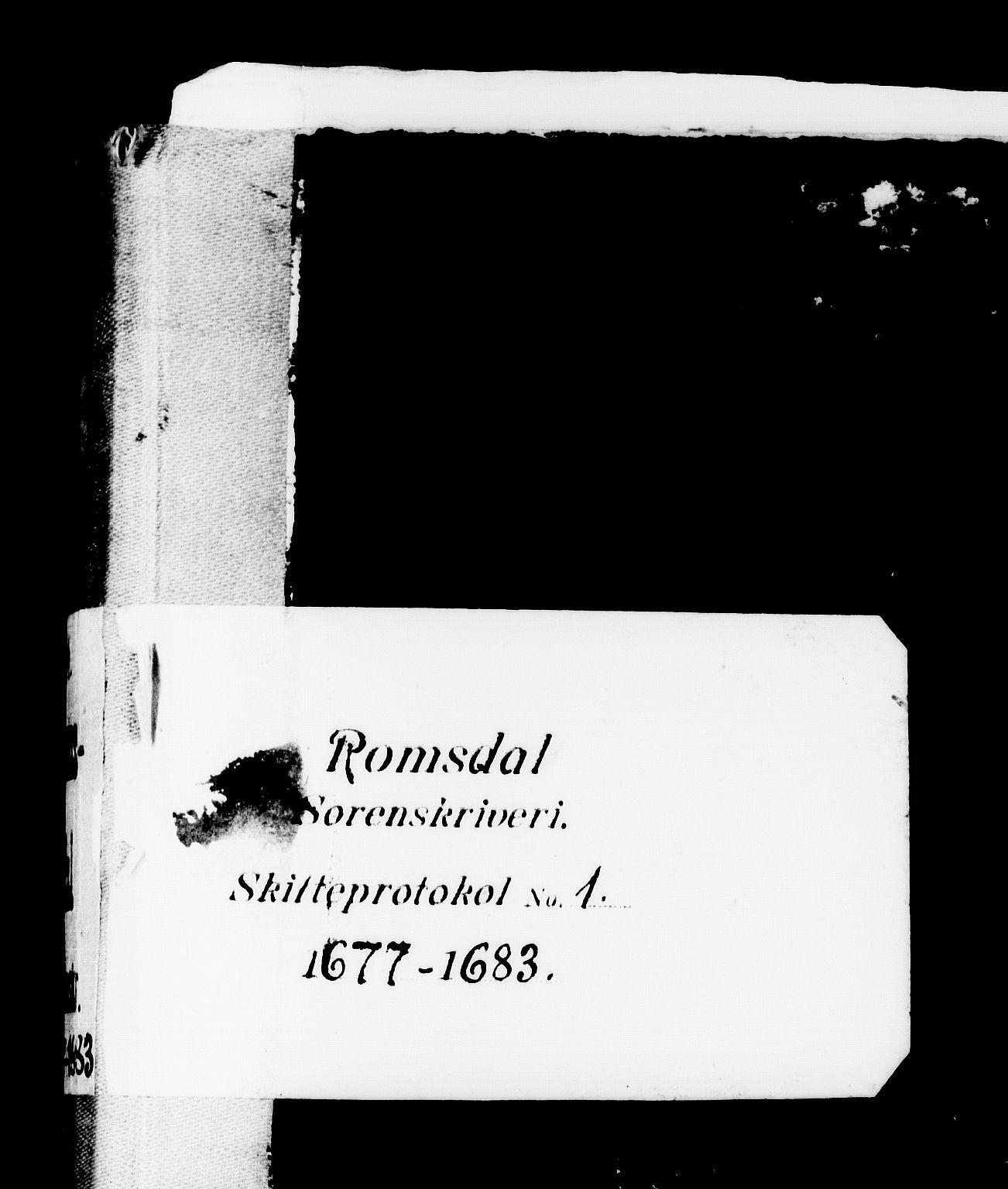 SAT, Romsdal sorenskriveri, 3/3A/L0001: Skifteprotokoll, 1677-1683