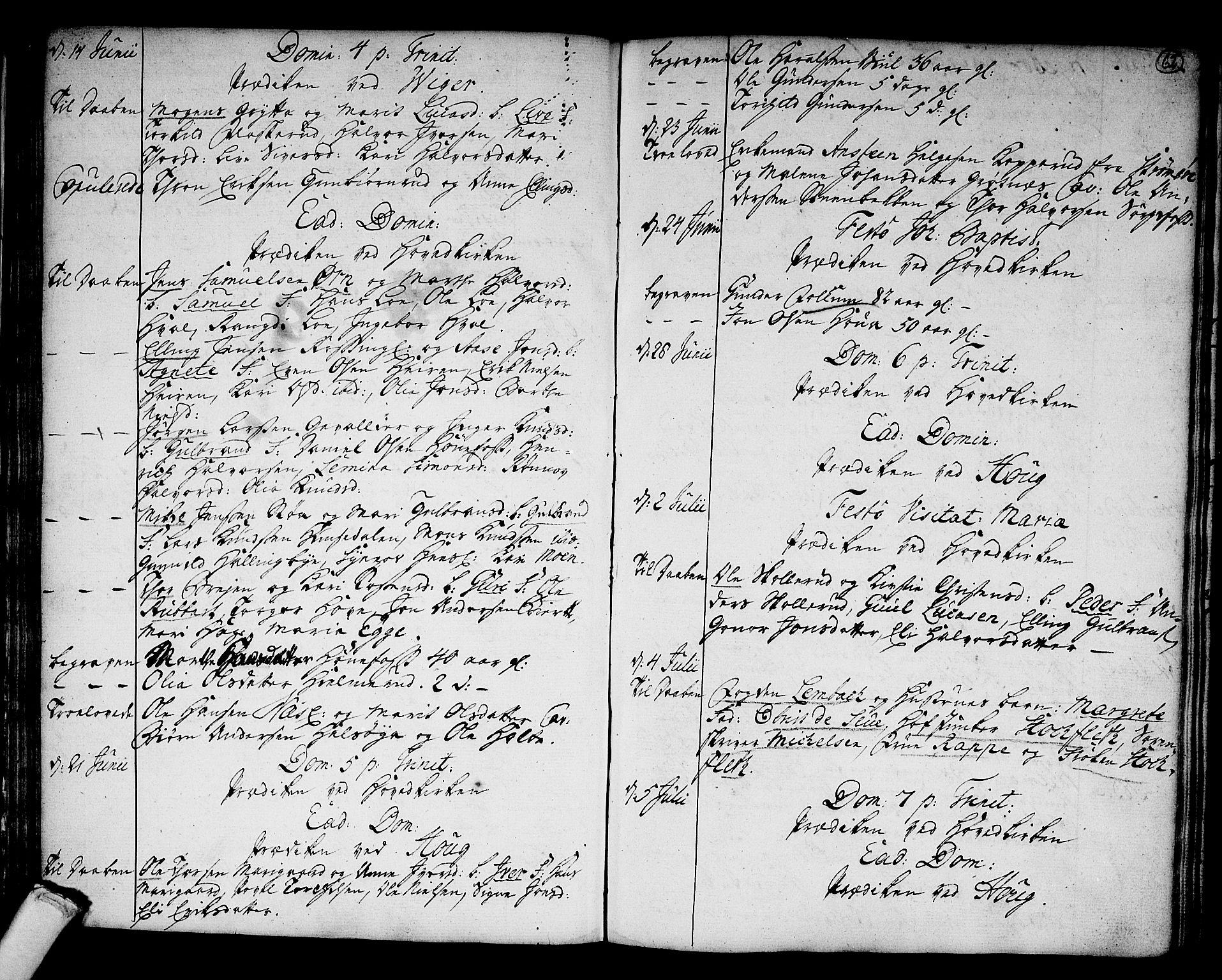 SAKO, Norderhov kirkebøker, F/Fa/L0004: Parish register (official) no. 4, 1758-1774, p. 62