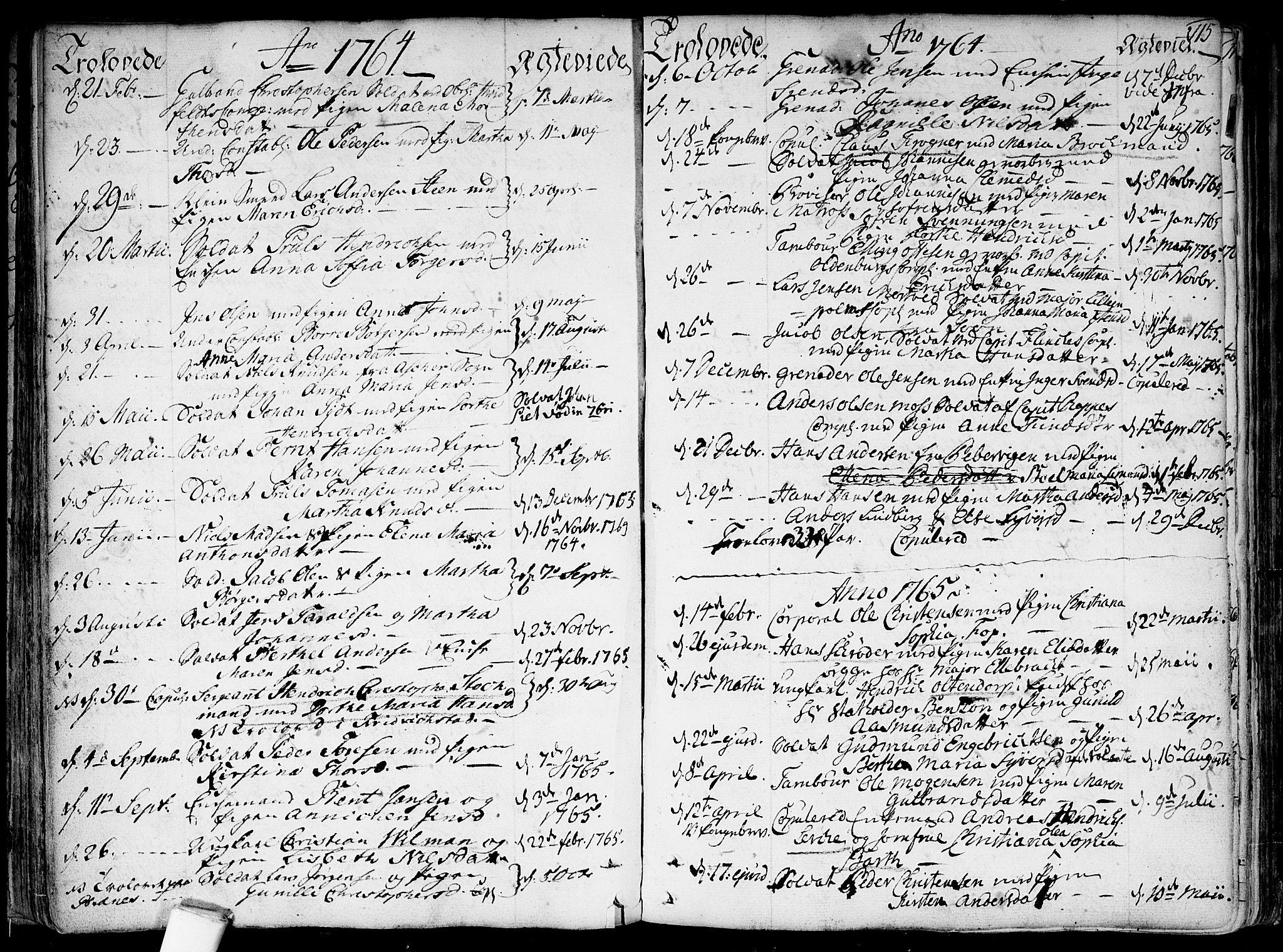 SAO, Garnisonsmenigheten Kirkebøker, F/Fa/L0002: Parish register (official) no. 2, 1757-1776, p. 115