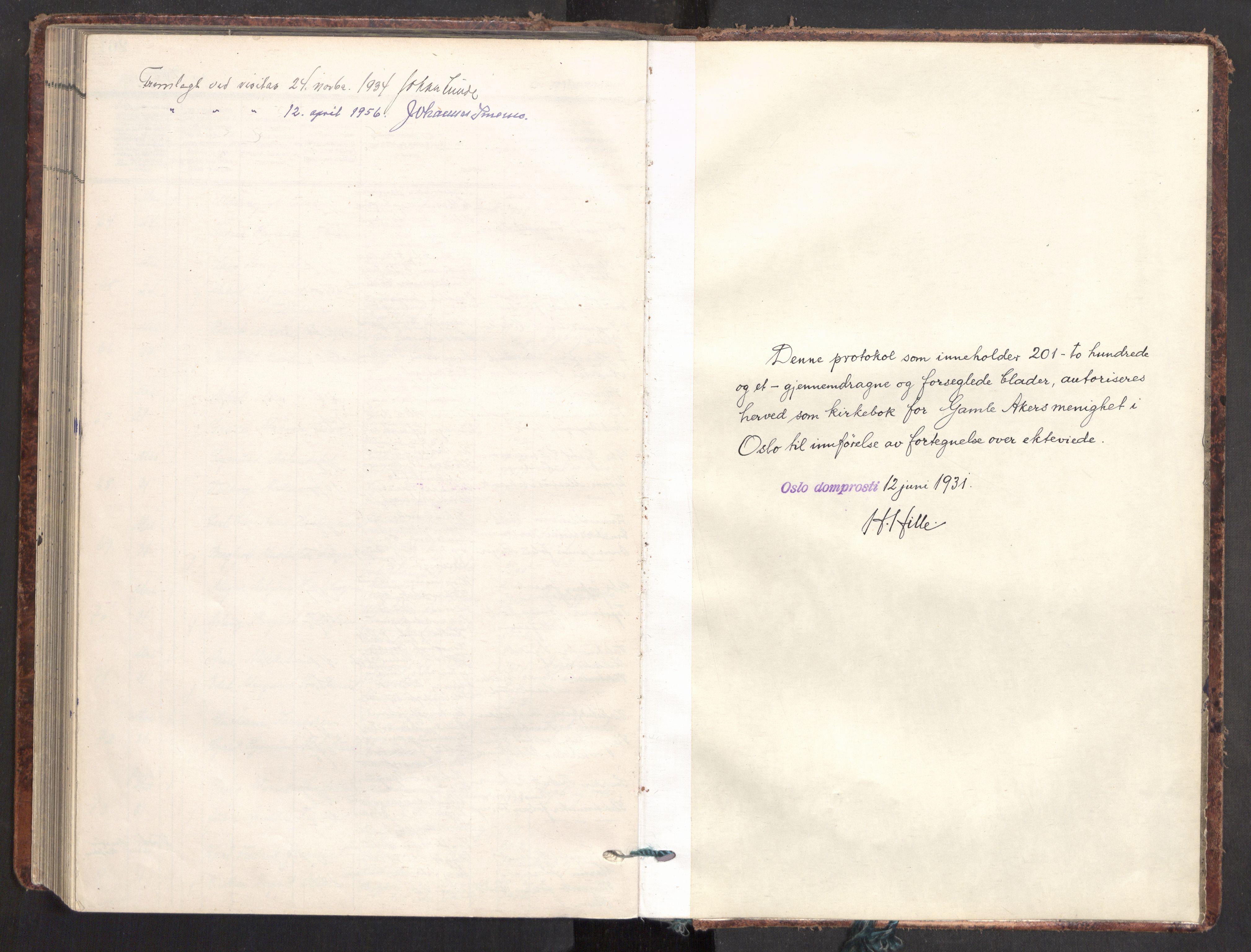 SAO, Gamle Aker prestekontor Kirkebøker, F/L0021: Parish register (official) no. 21, 1932-1941
