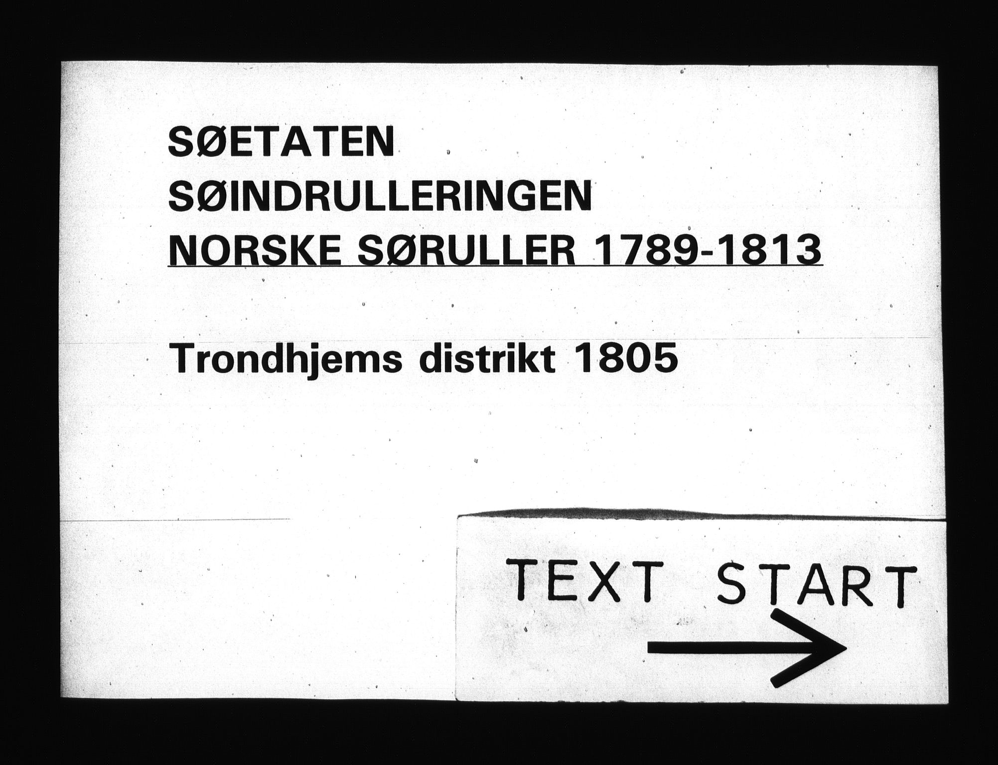 RA, Sjøetaten, F/L0332: Trondheim distrikt, bind 1, 1805