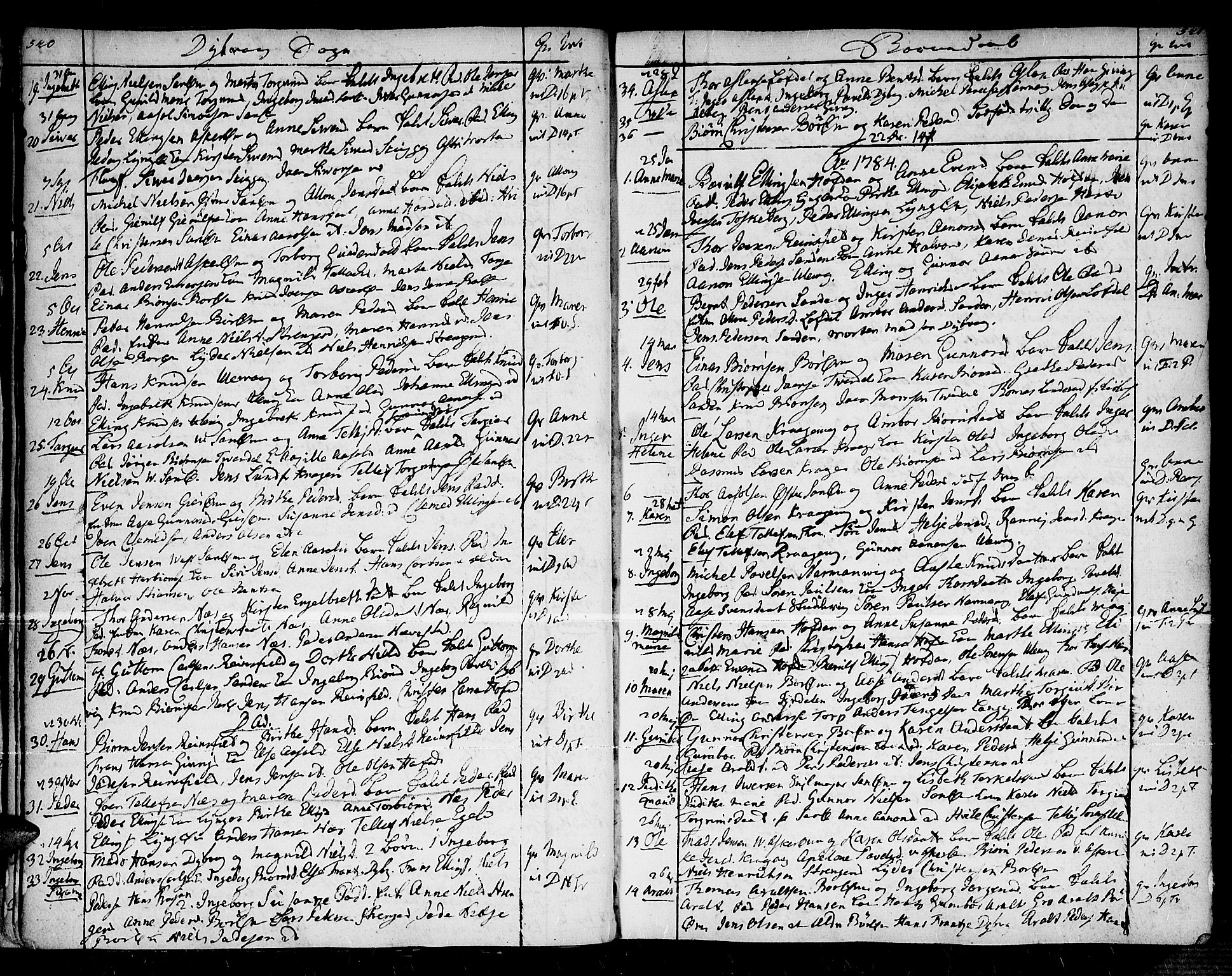 SAK, Dypvåg sokneprestkontor, F/Fa/Faa/L0001: Parish register (official) no. A 1 /1, 1765-1798, p. 540-541