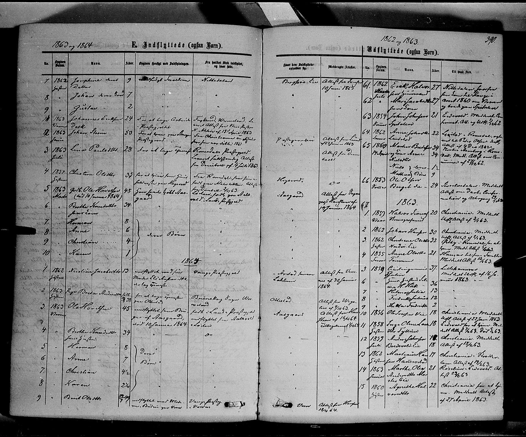 SAH, Stange prestekontor, K/L0013: Parish register (official) no. 13, 1862-1879, p. 390
