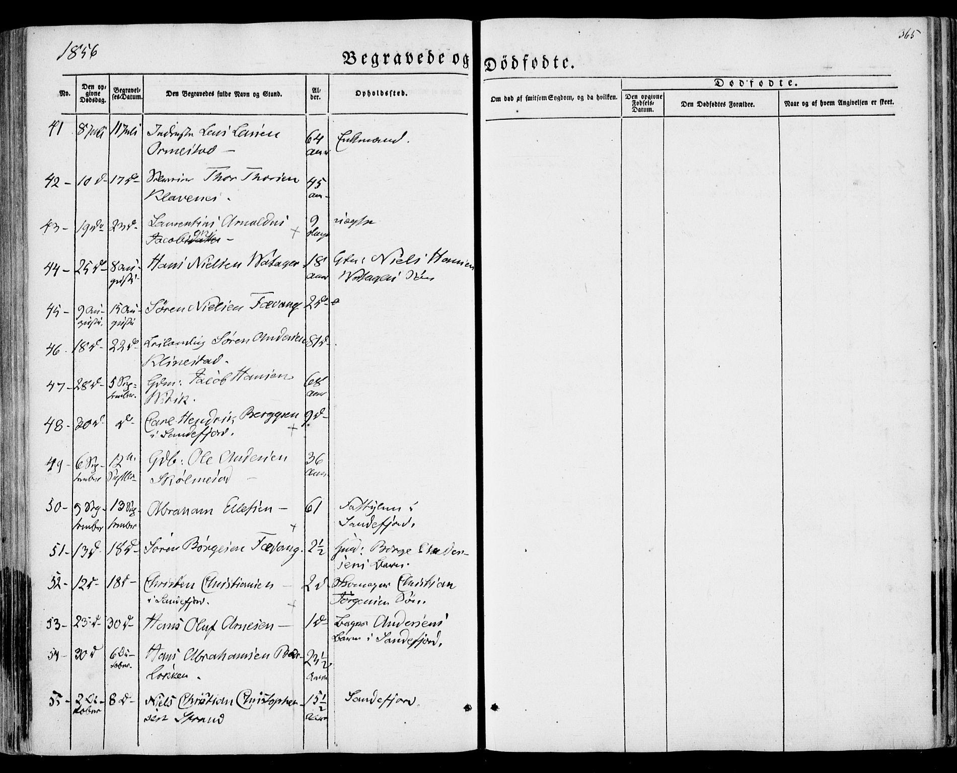 SAKO, Sandar kirkebøker, F/Fa/L0007: Parish register (official) no. 7, 1855-1861, p. 365