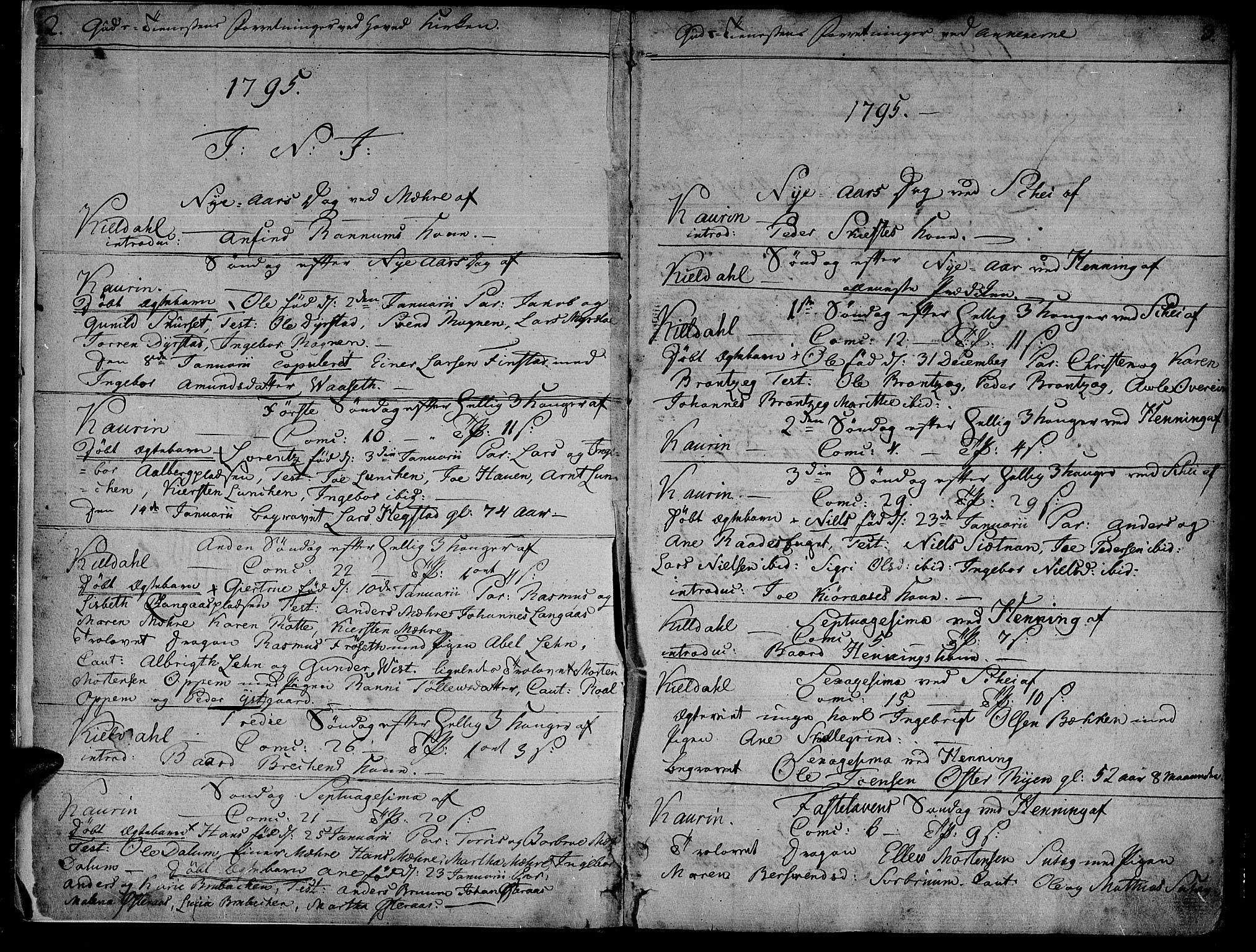 SAT, Ministerialprotokoller, klokkerbøker og fødselsregistre - Nord-Trøndelag, 735/L0332: Parish register (official) no. 735A03, 1795-1816, p. 2-3