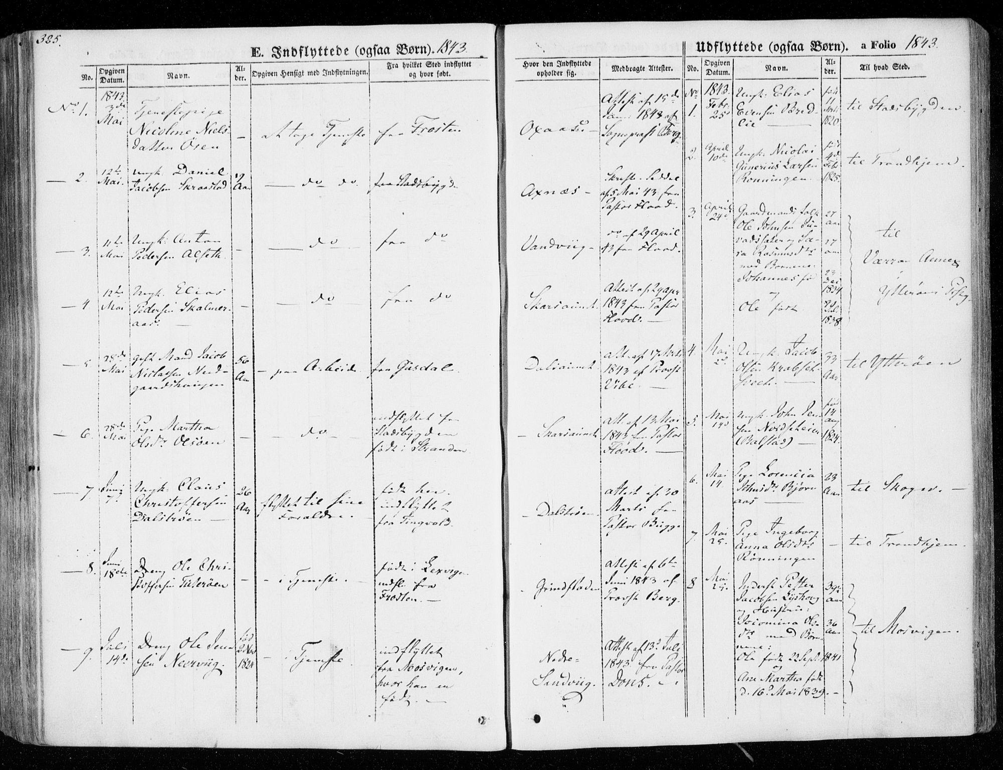 SAT, Ministerialprotokoller, klokkerbøker og fødselsregistre - Nord-Trøndelag, 701/L0007: Parish register (official) no. 701A07 /1, 1842-1854, p. 325