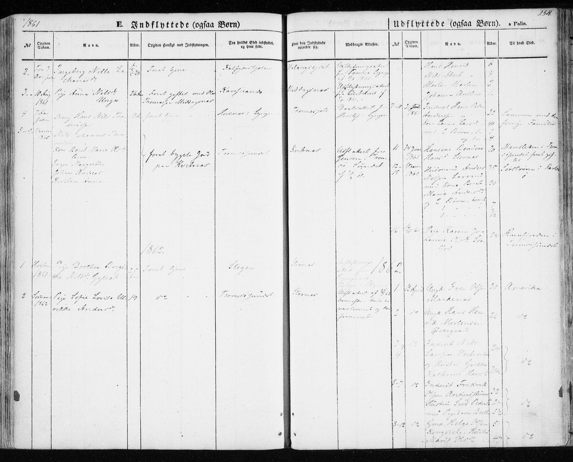 SATØ, Balsfjord sokneprestembete, Parish register (official) no. 3, 1856-1870, p. 254