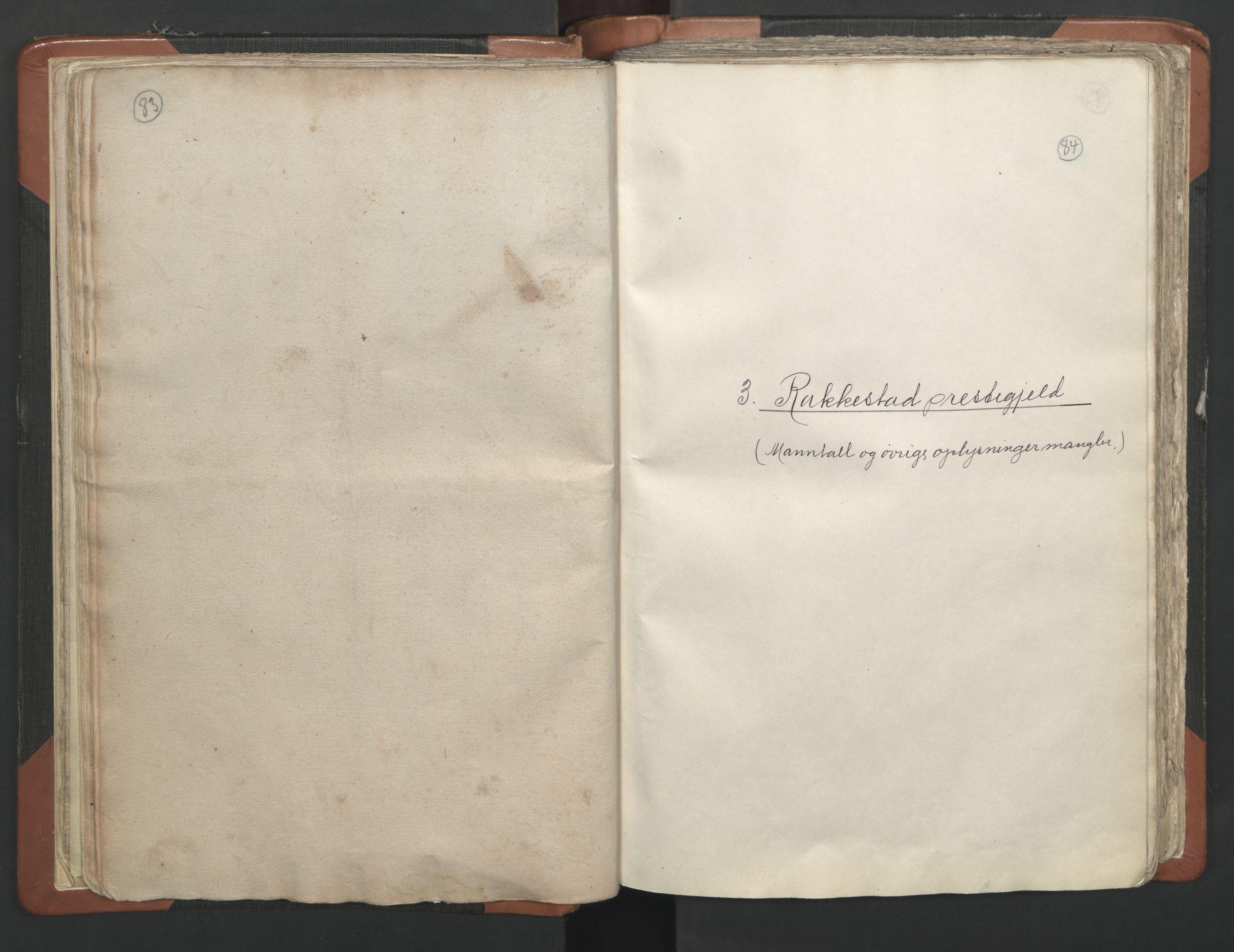 RA, Vicar's Census 1664-1666, no. 2: Øvre Borgesyssel deanery, 1664-1666, p. 83-84